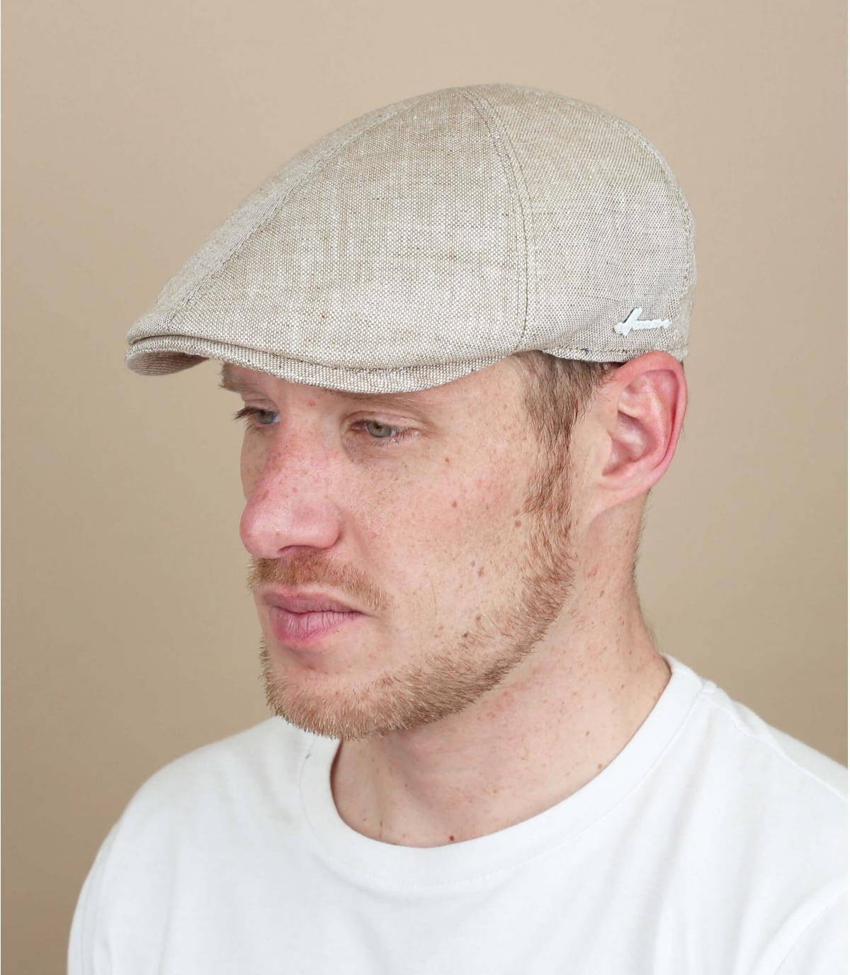 gorra lino beis Herman