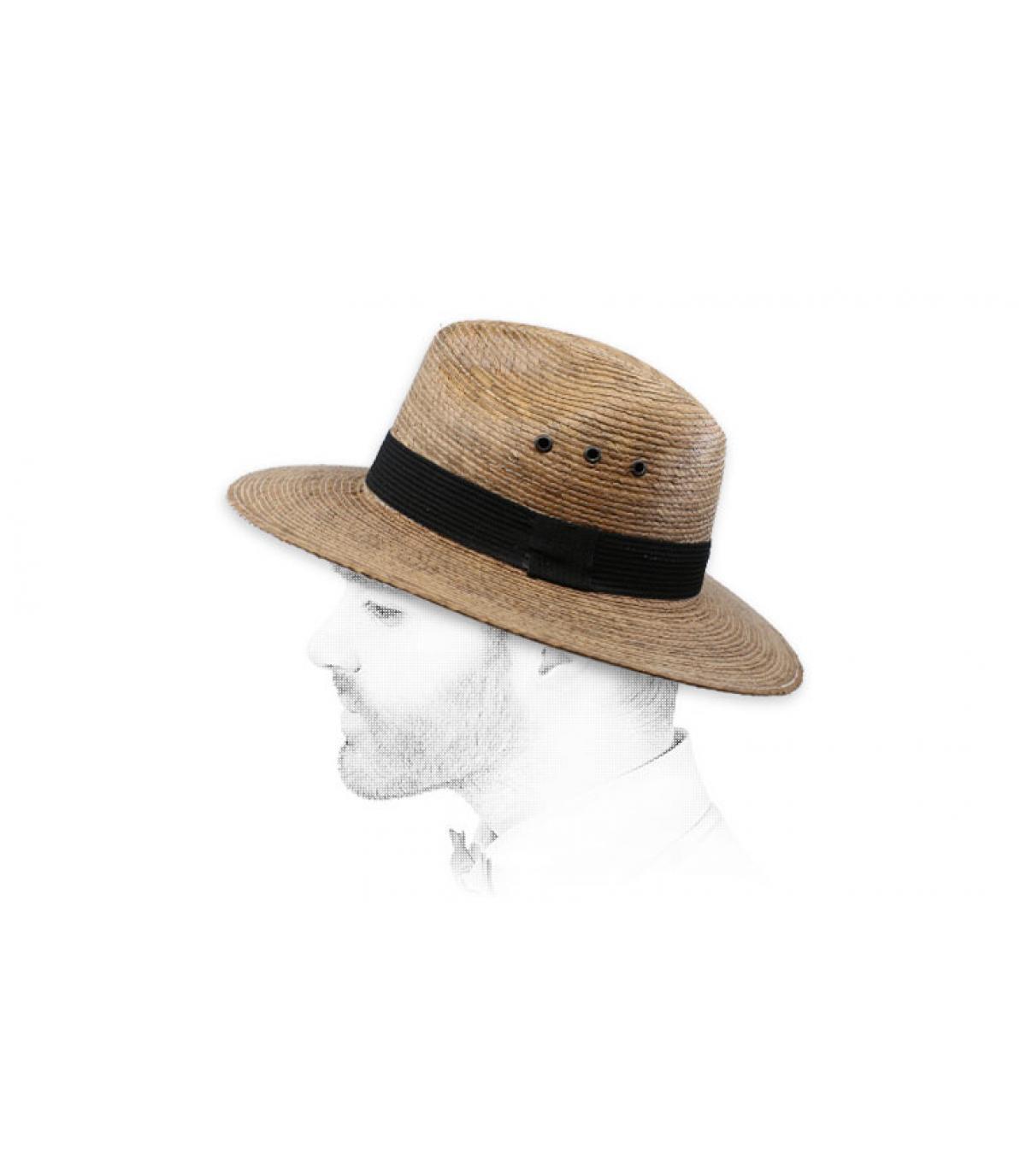 sombrero paja ojete cinta
