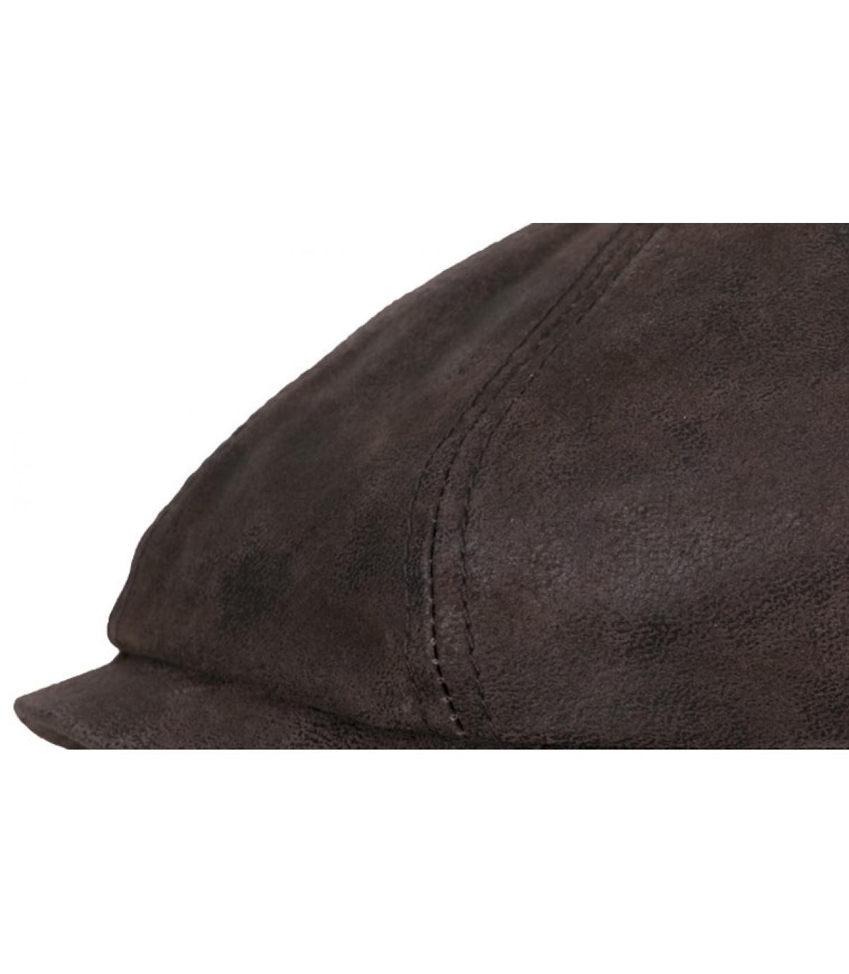 Gorra cuir brun