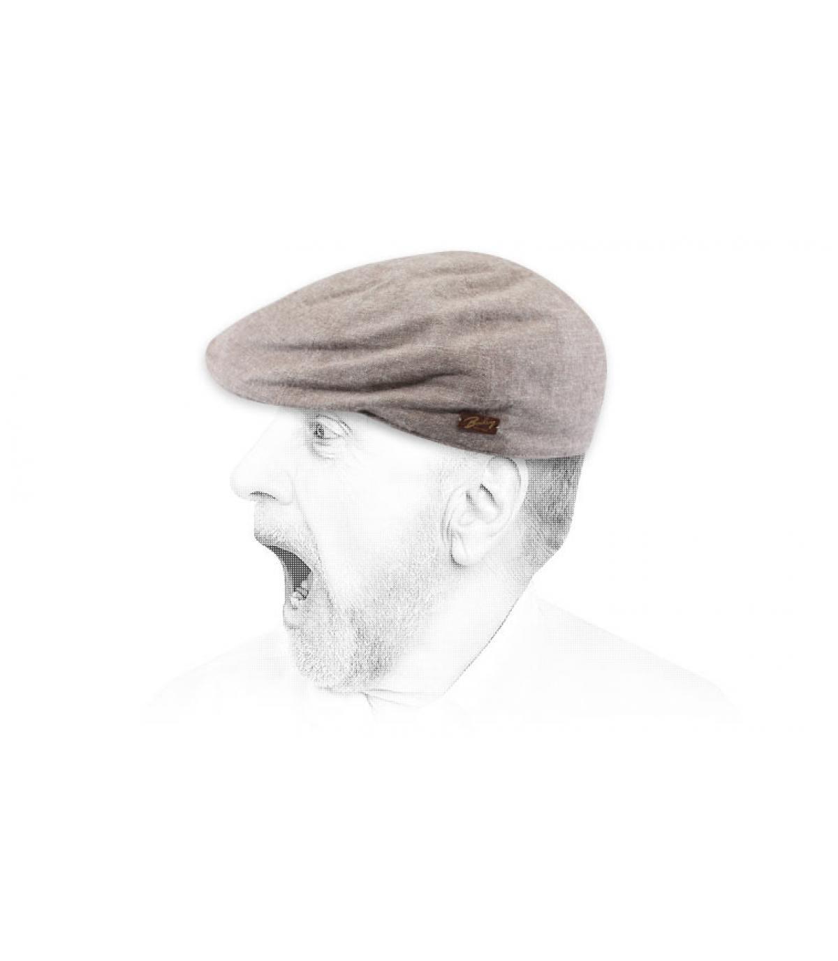 gorra duckbill algodón marrón