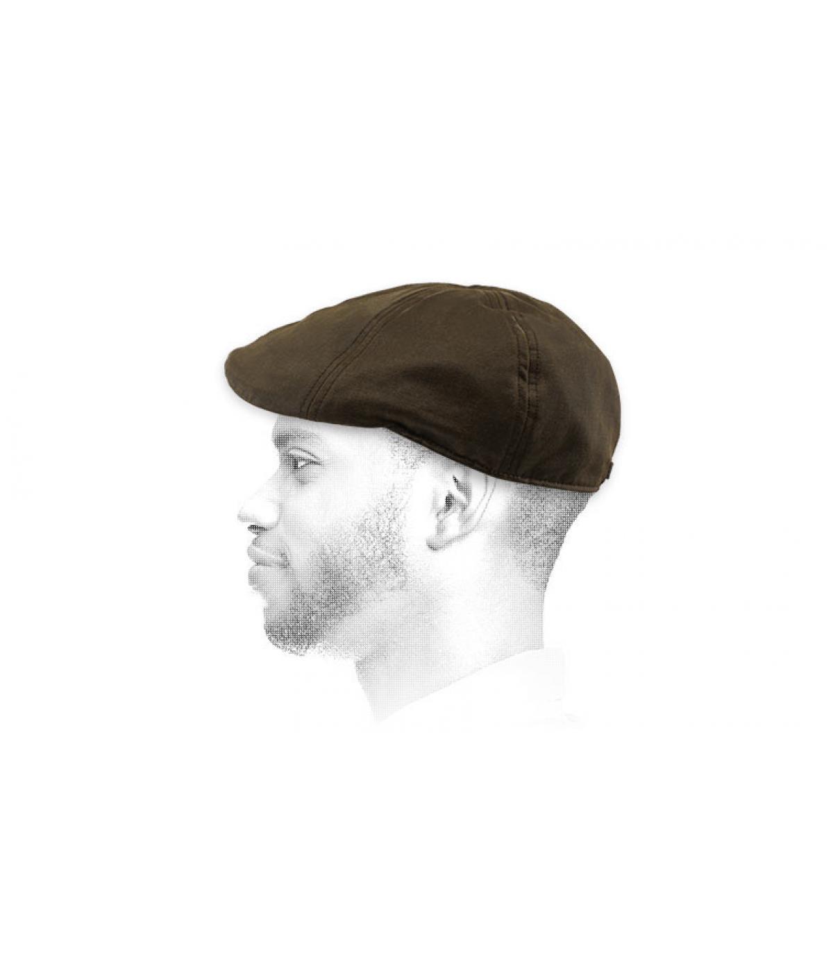 gorra marrón algodón