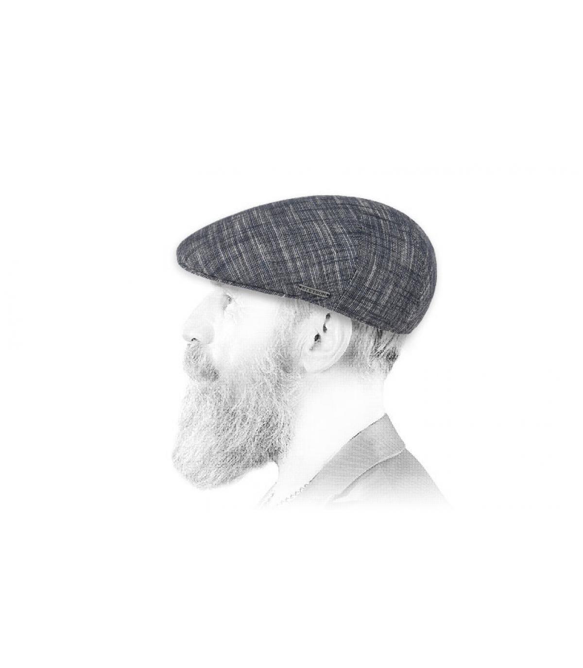 gorra azul algodón