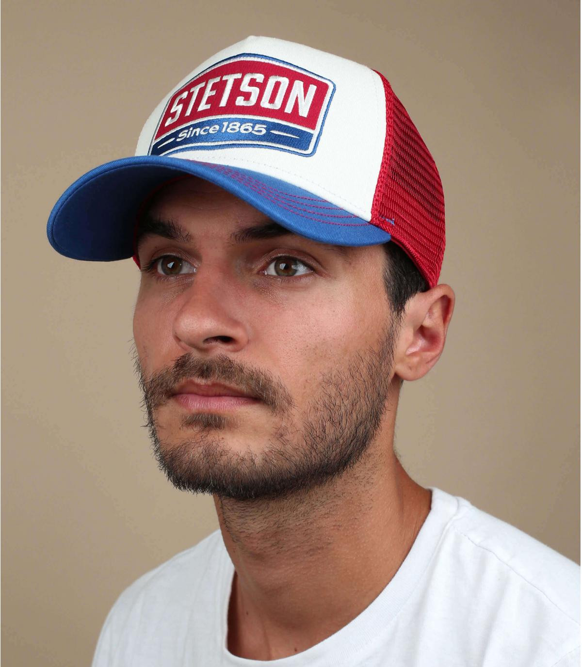 trucker Stetson azul blanco rojo