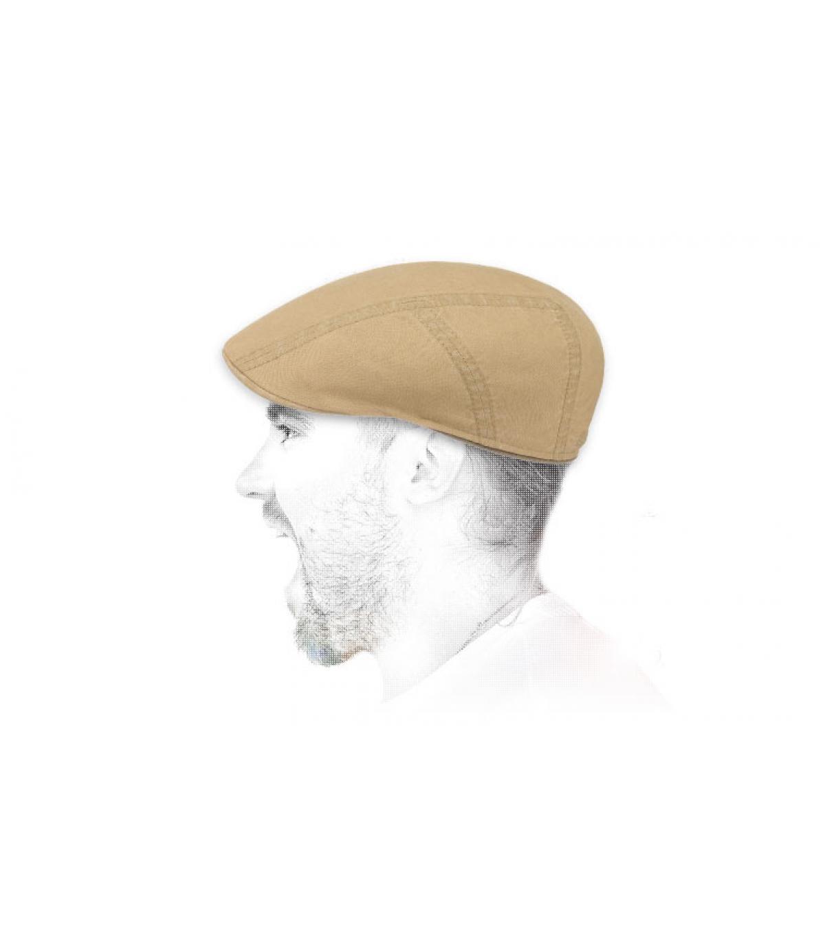 gorra beis lino algodón
