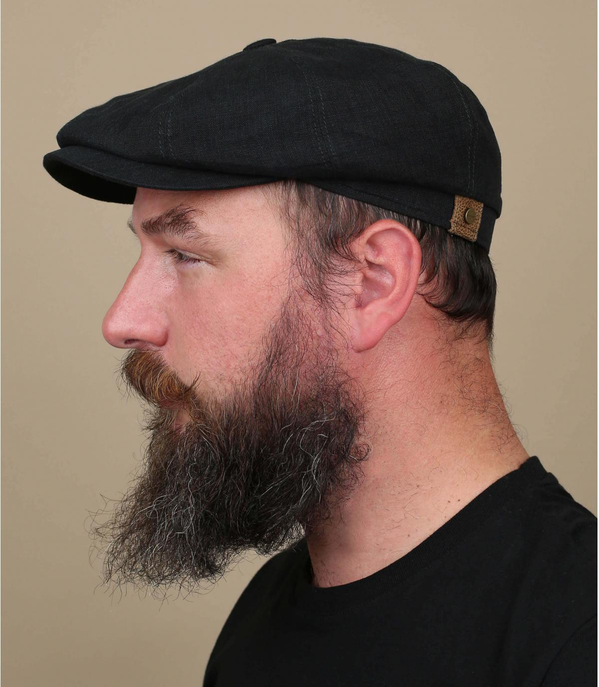 gorra lino negro