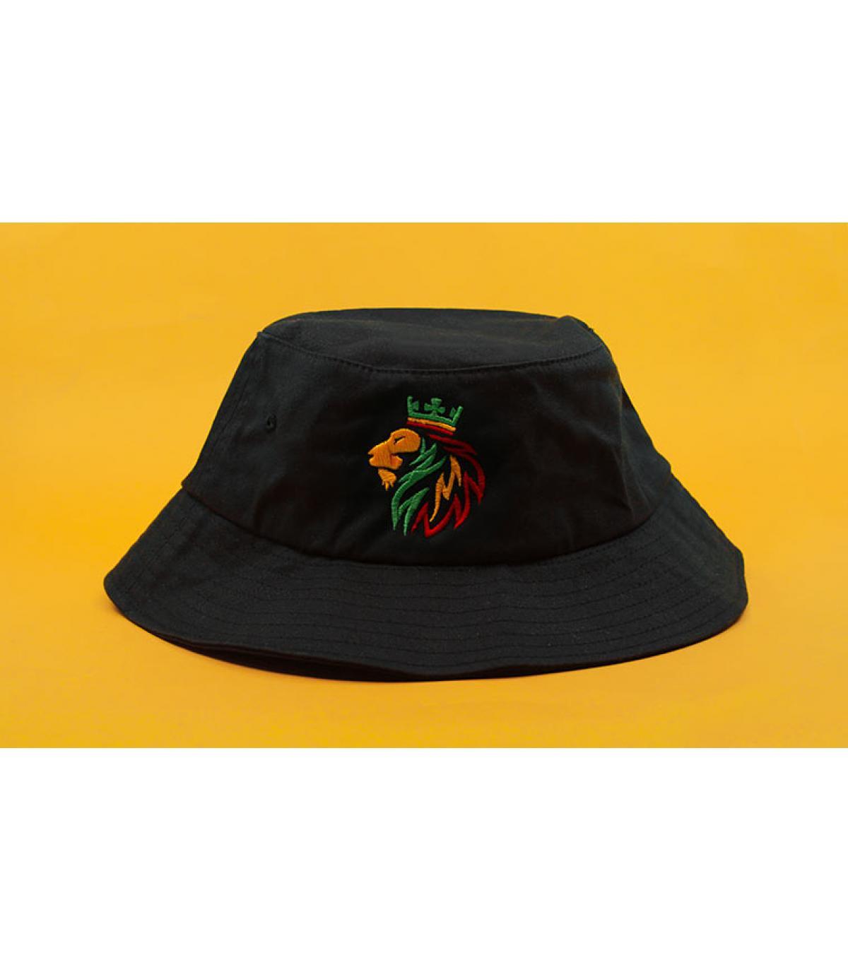 sombrero rasta negro