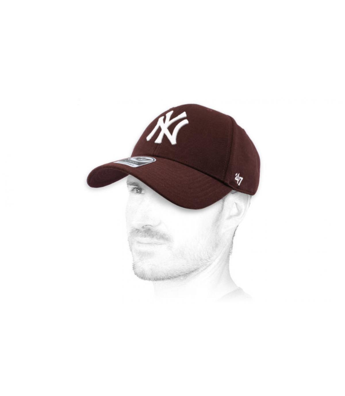 gorra NY granate 47