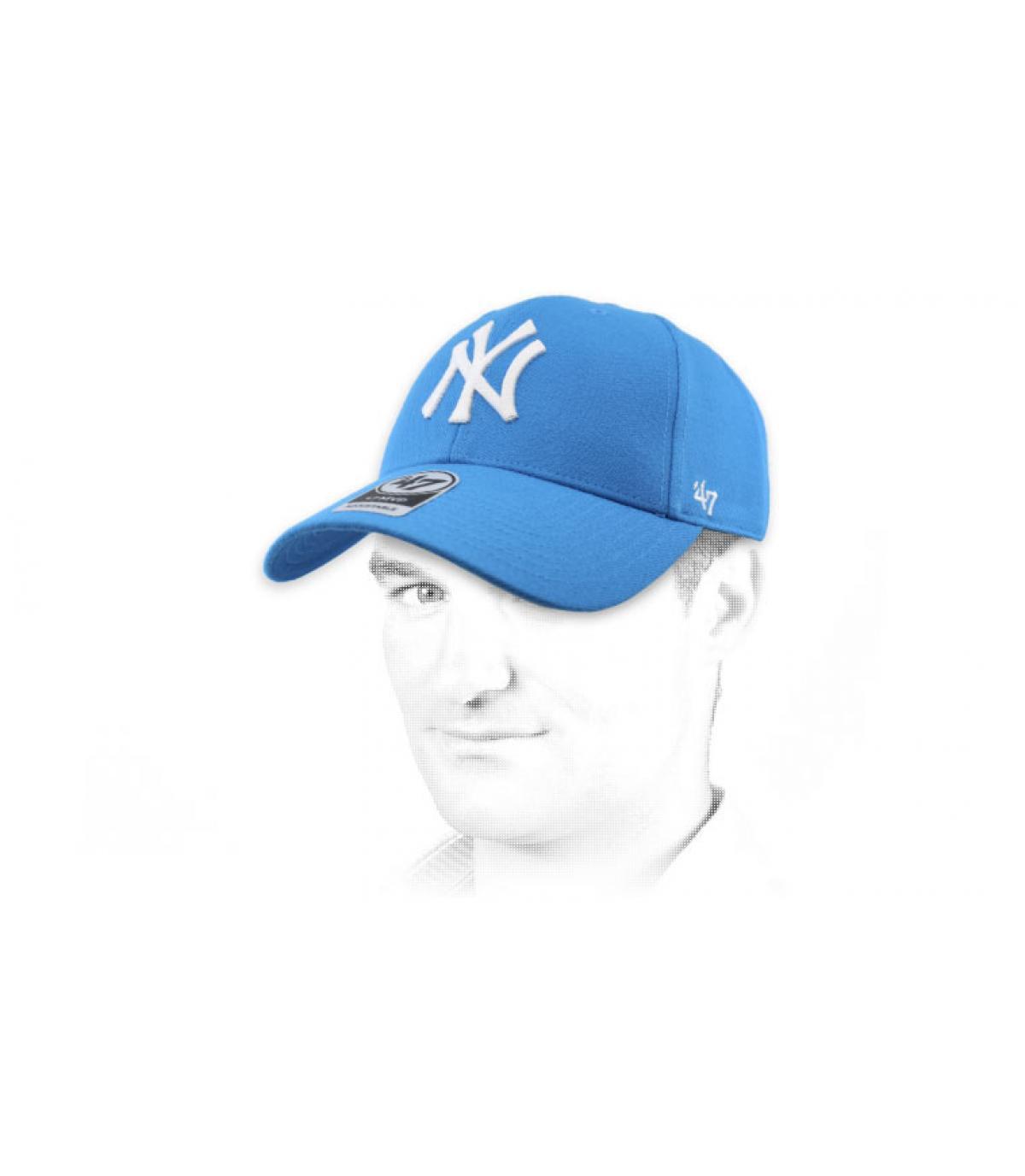 gorra NY azul claro 47