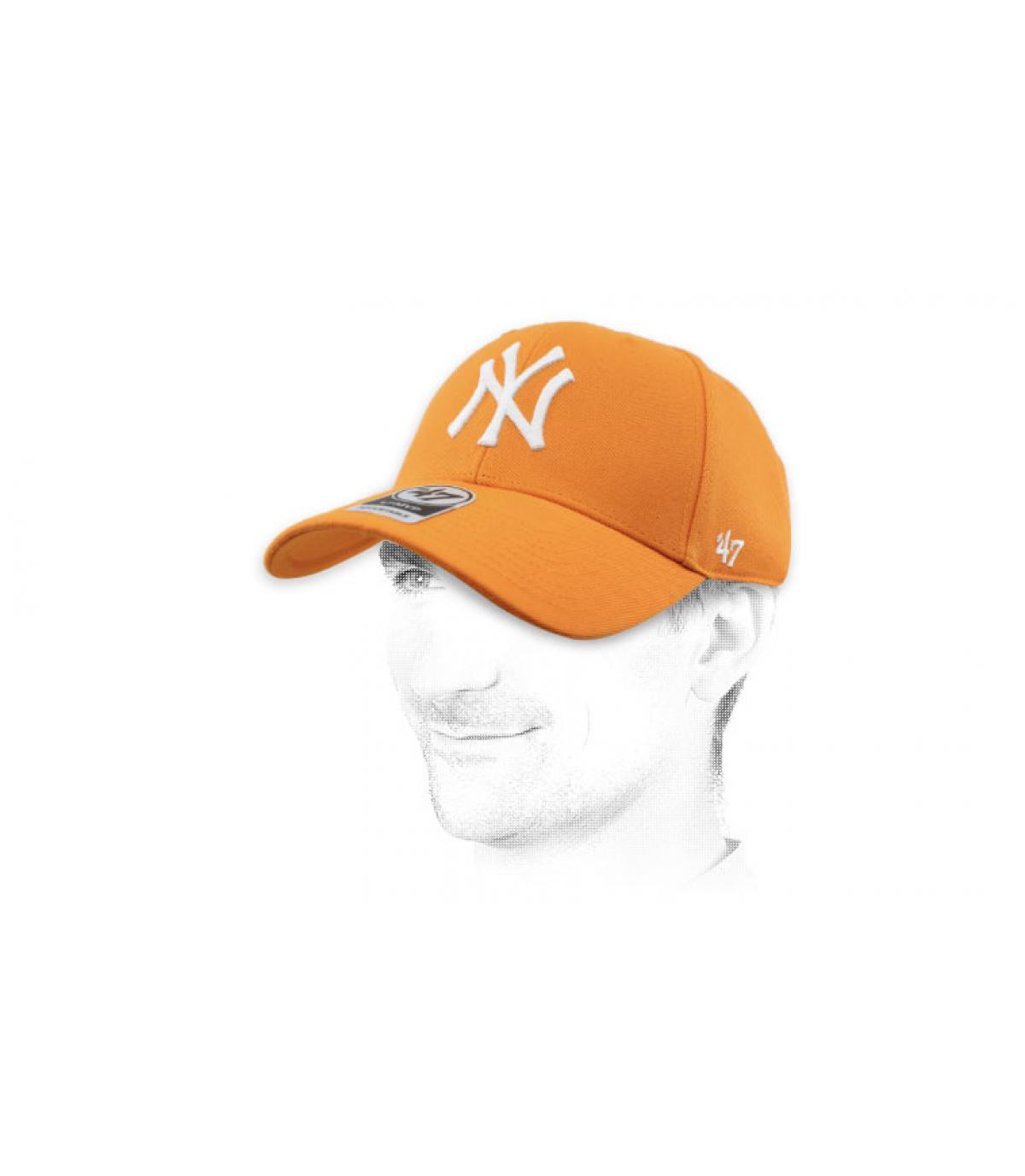 gorra NY naranja 47