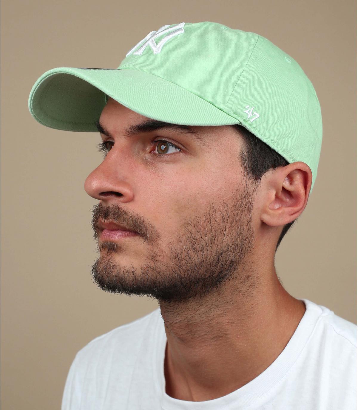 gorra NY verde claro 47