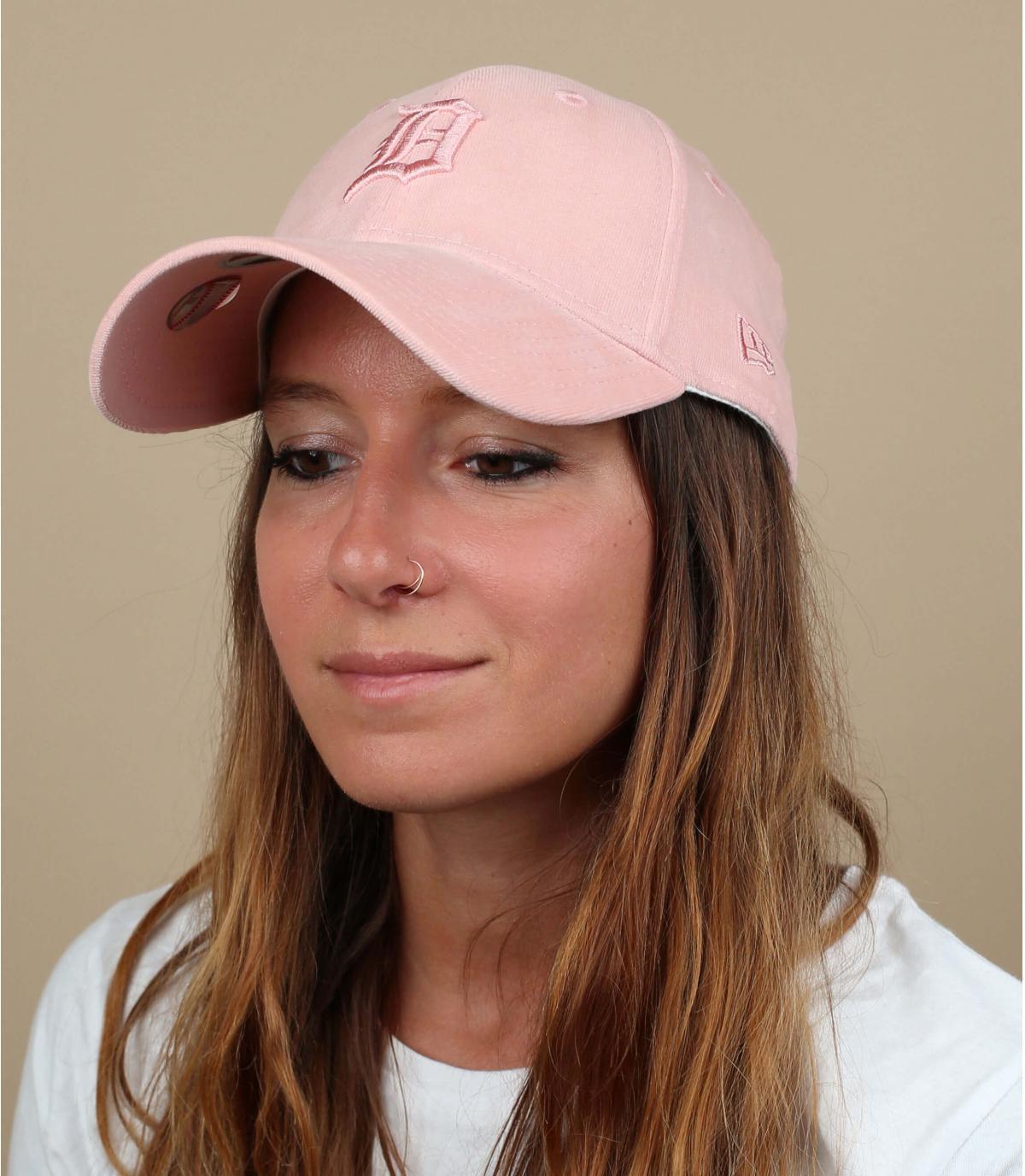 gorra Detroit rosa mujer