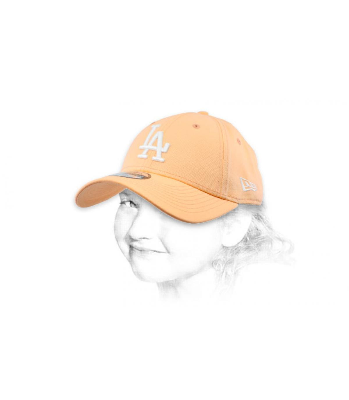 gorra LA niño rosa