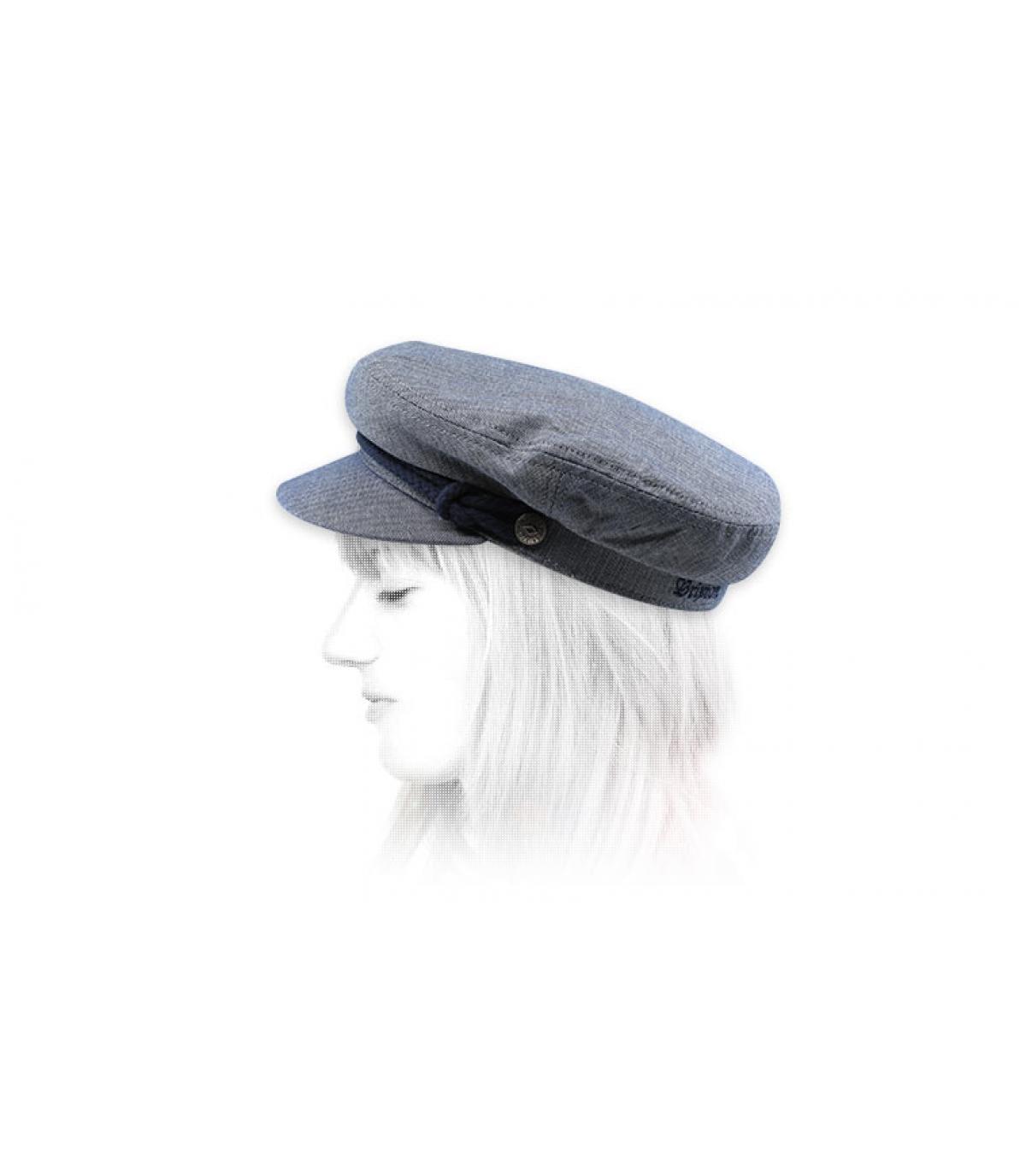 gorra marinera mujer azul