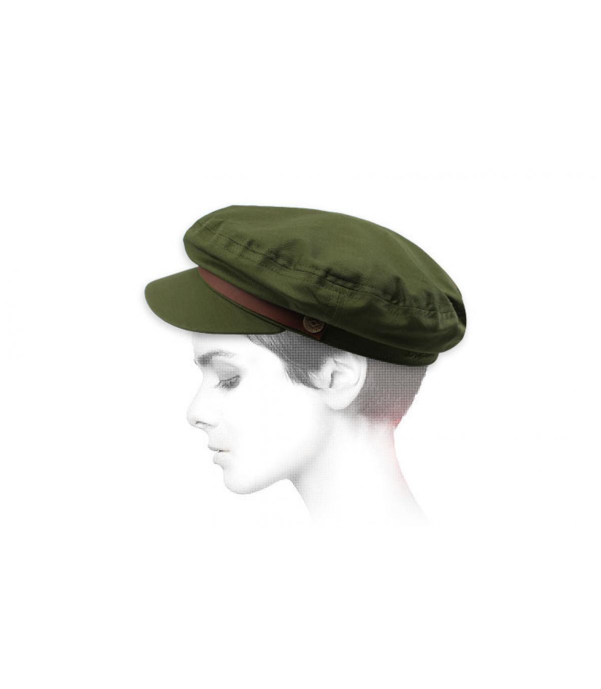 gorra marinera mujer verde