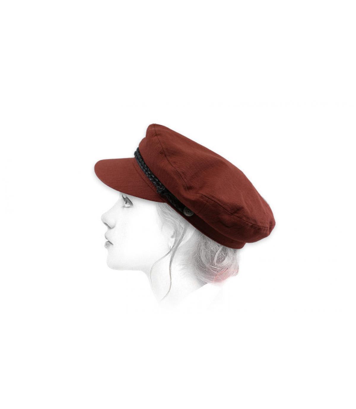 gorra marinera mujer granate