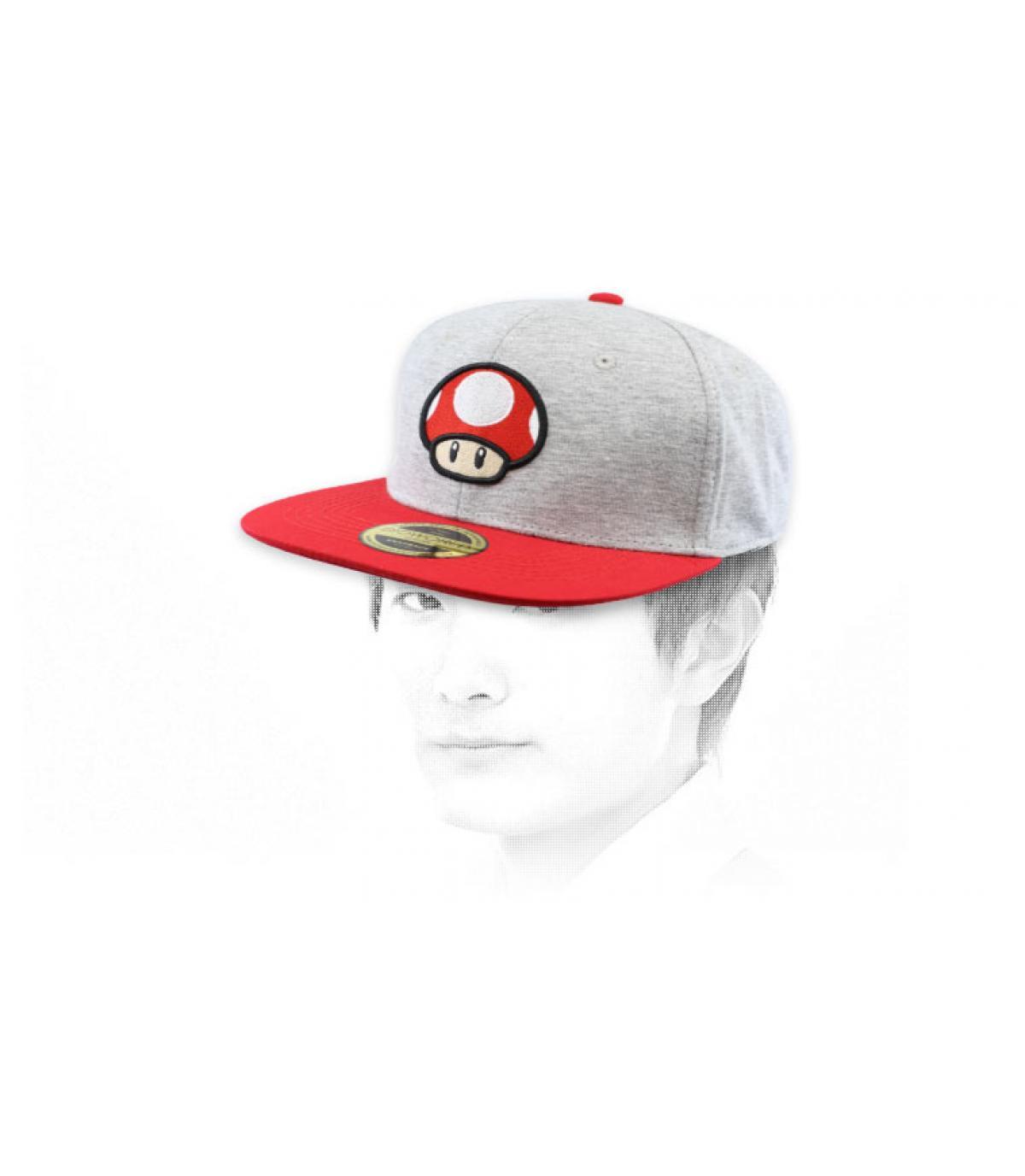 snapback champiñon Mario