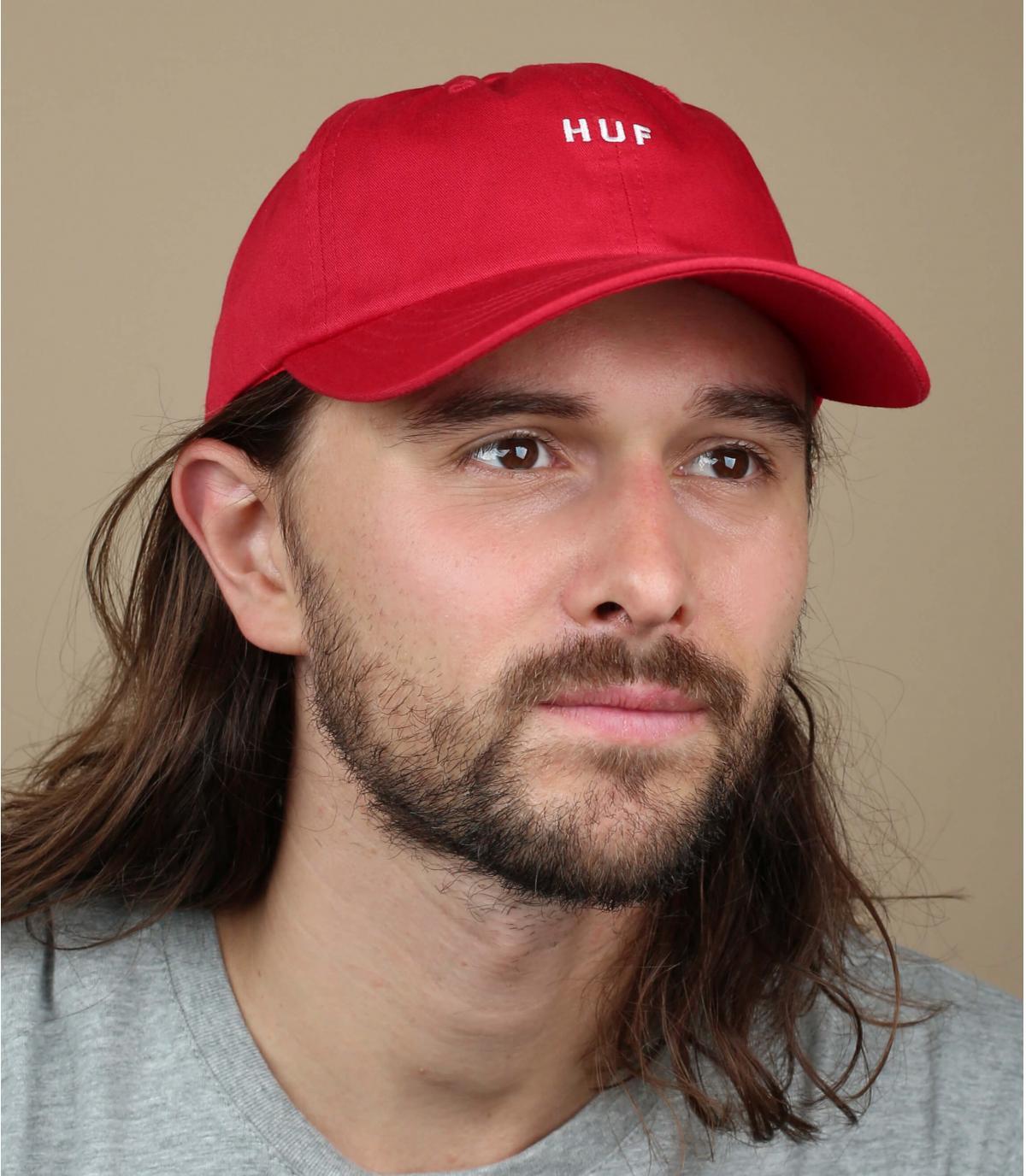 gorra Huf rojo