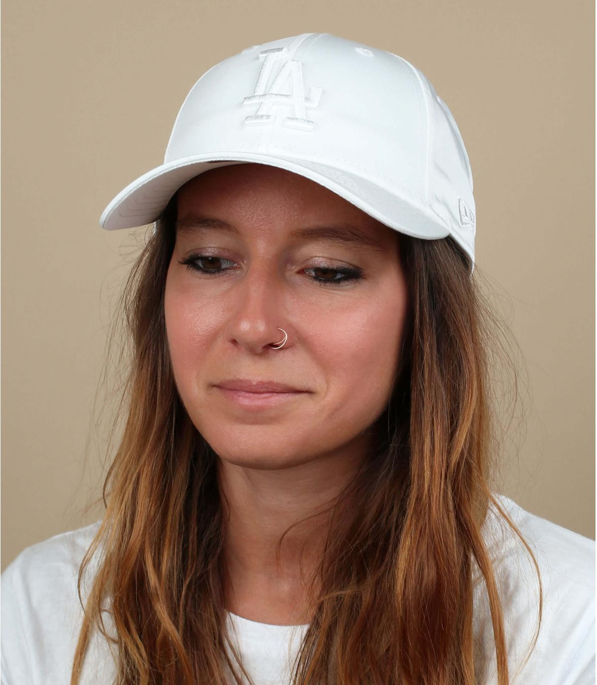 gorra LA mujer blanco