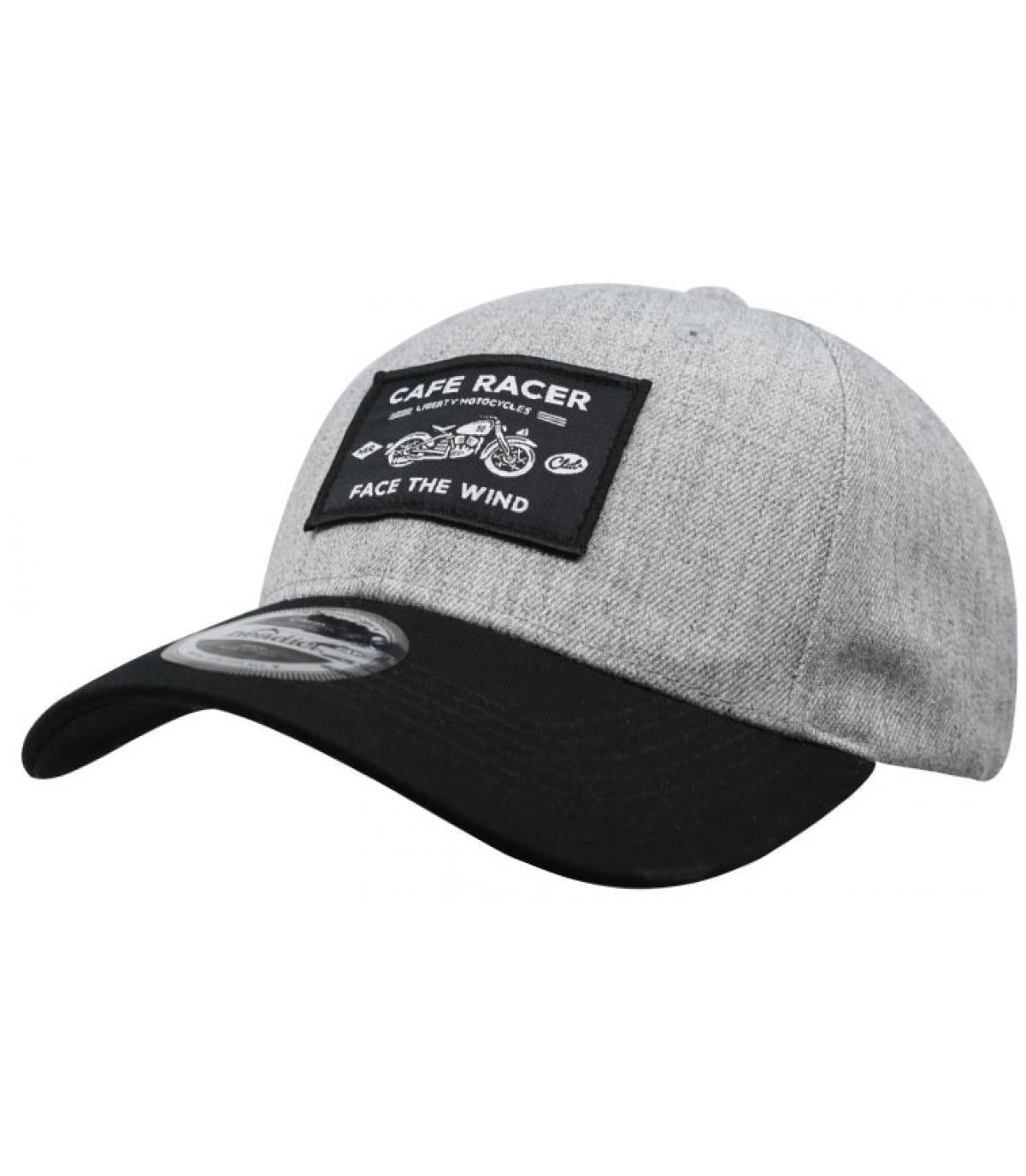 gorra Café Racer gris