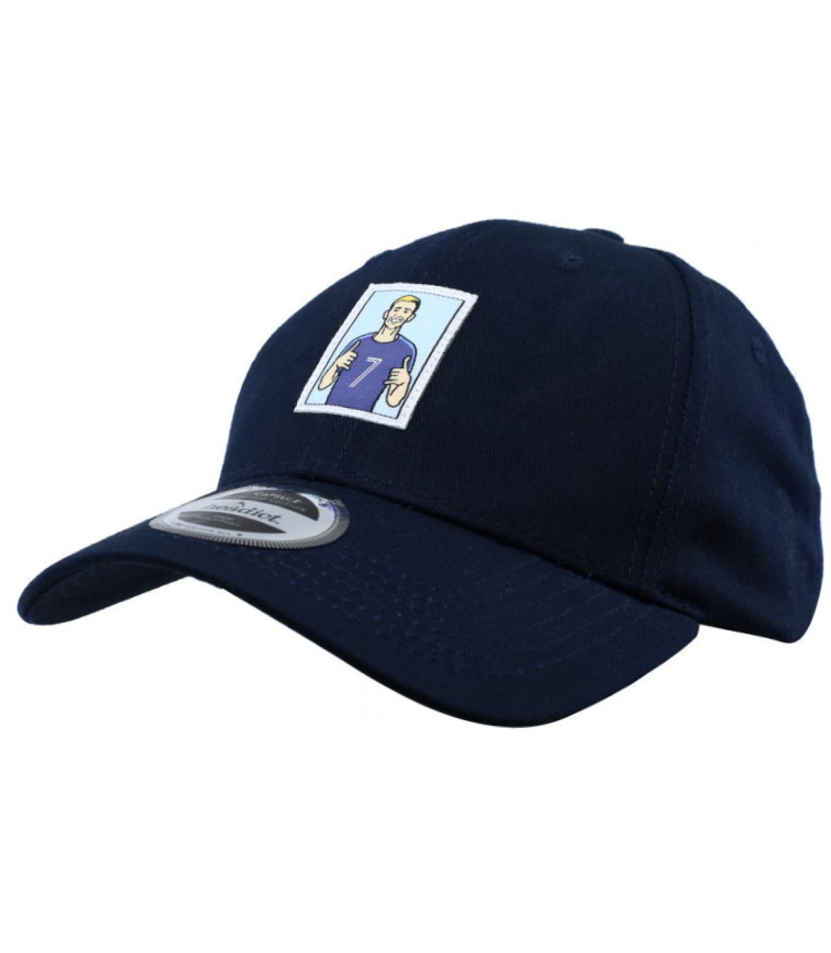 gorra gol fútbol azul