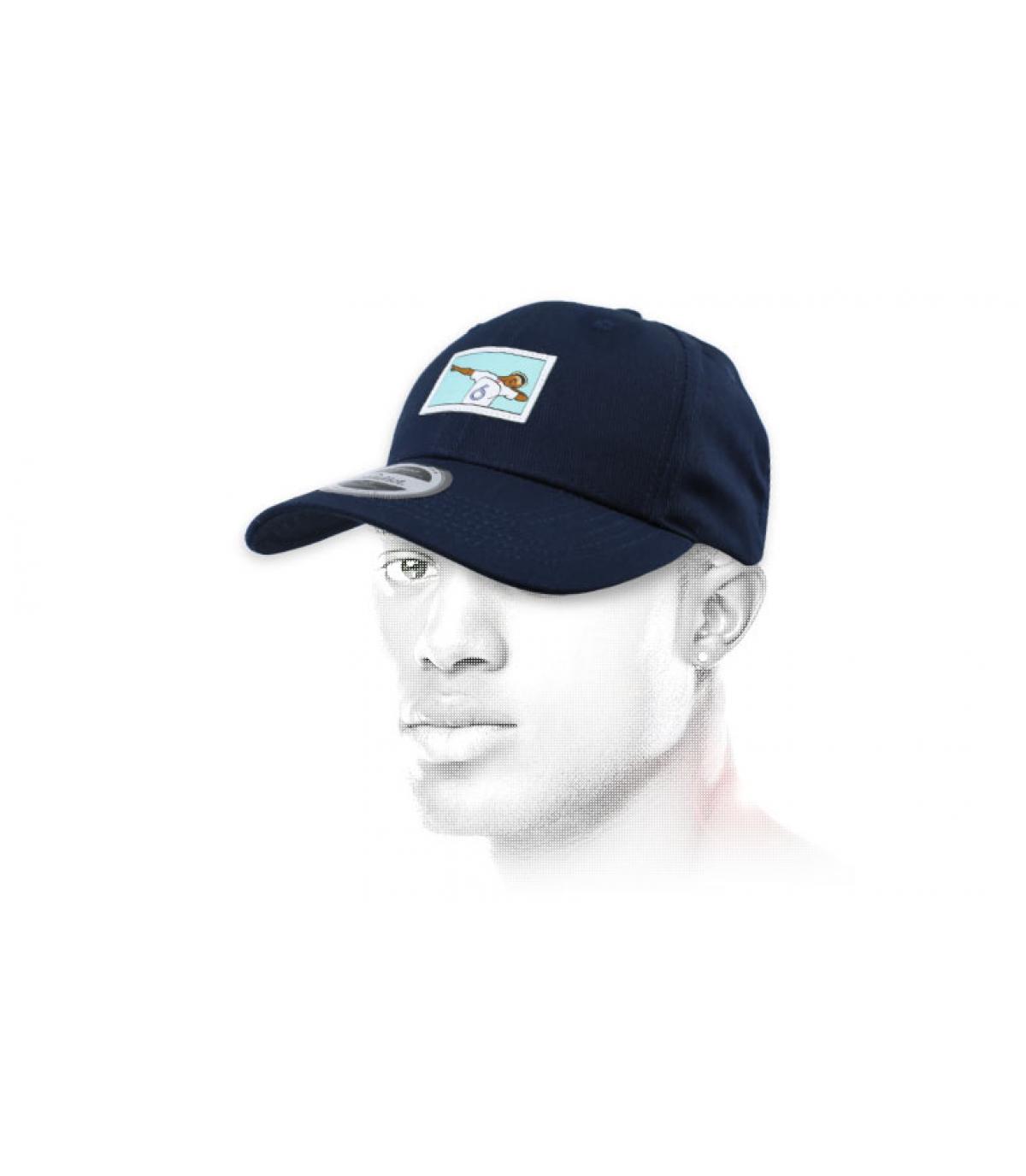 gorra dab fútbol azul