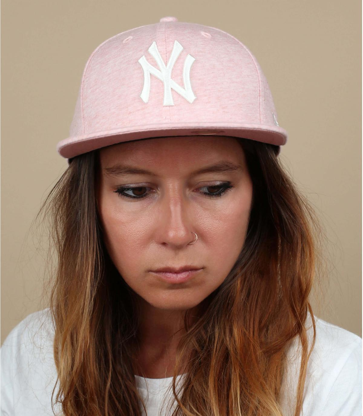 snapback Ny rosa palido