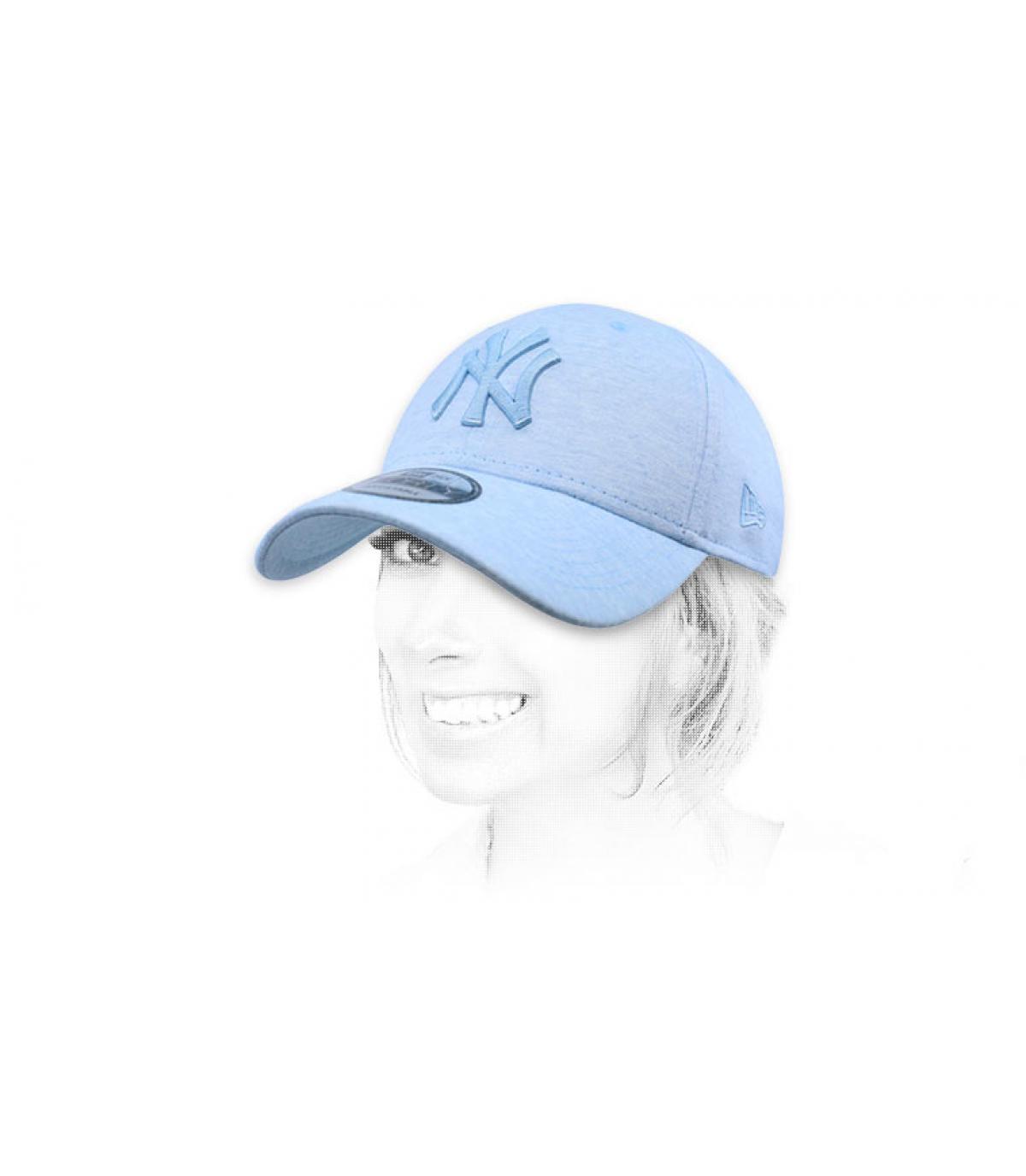gorra NY azul claro