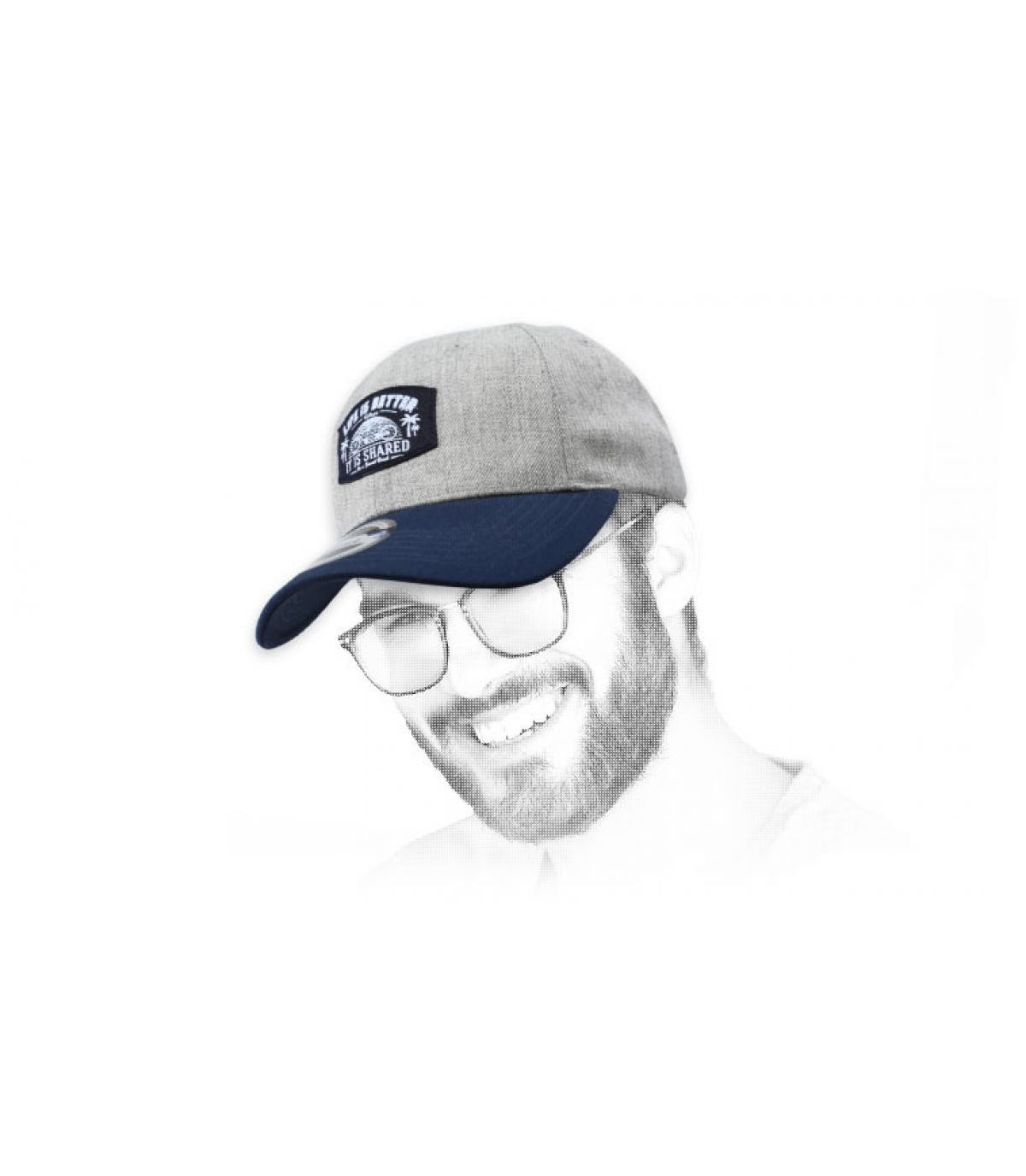 gorra tandem gris azul