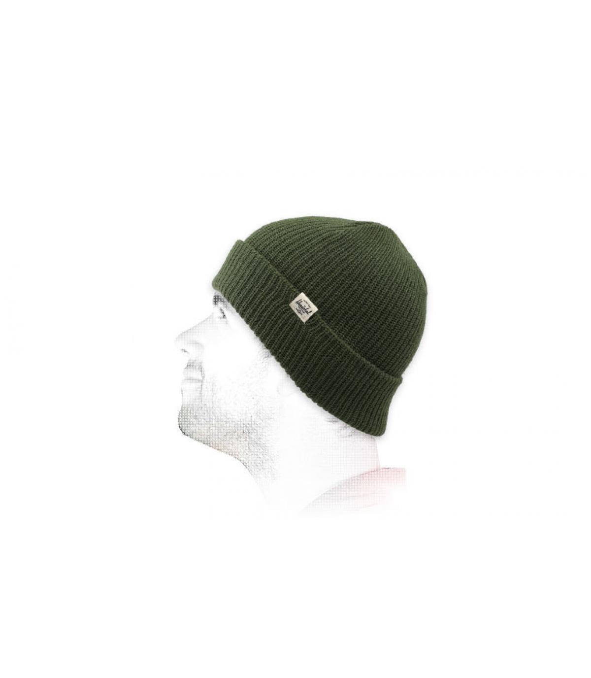 gorro solapa verde Herschel