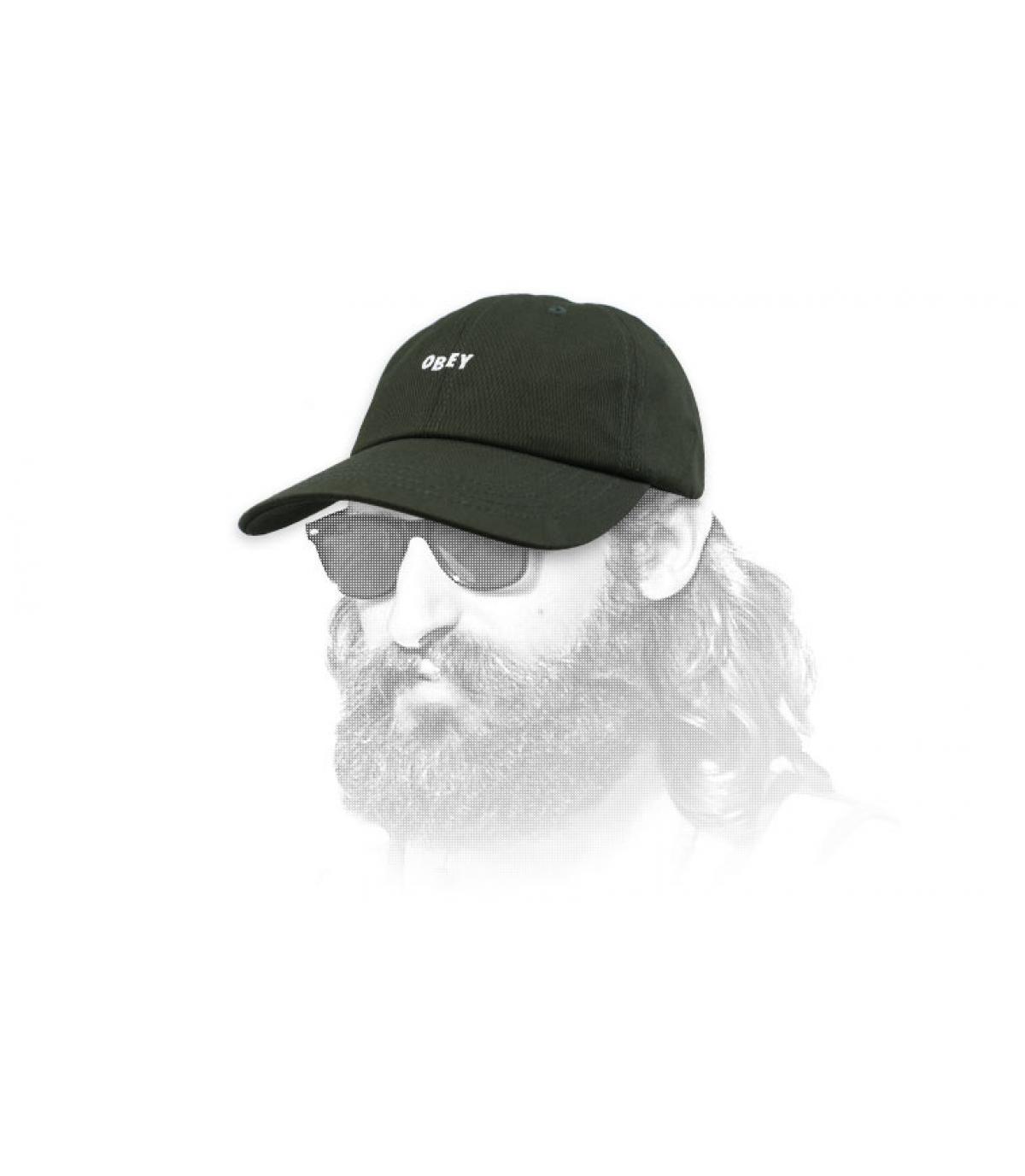 gorra verde Obey