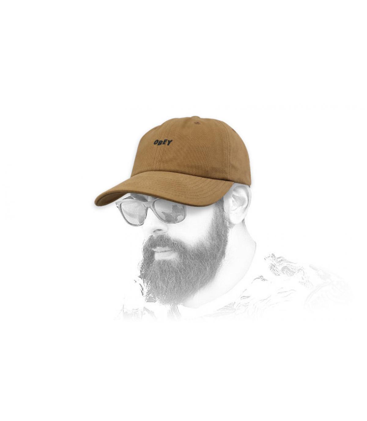 gorra curva Obey marrón