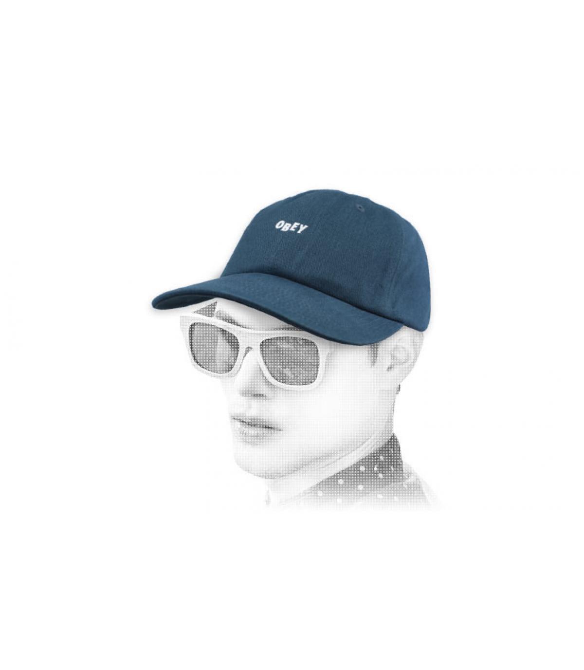gorra azul Obey
