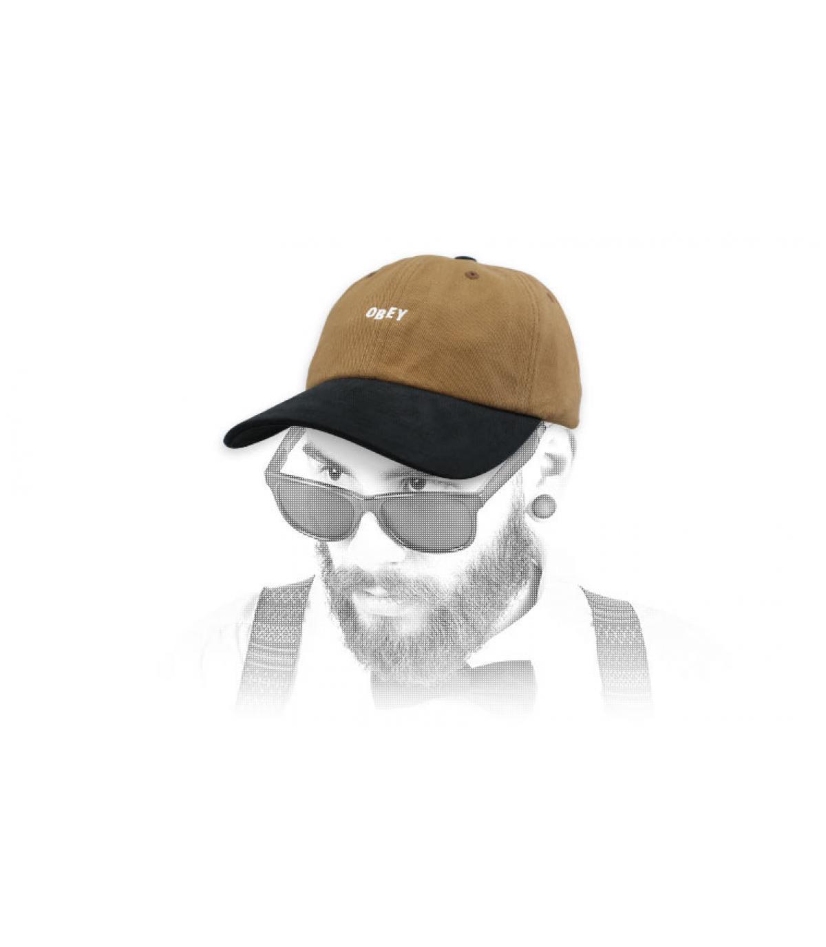 gorra marrón negro Obey