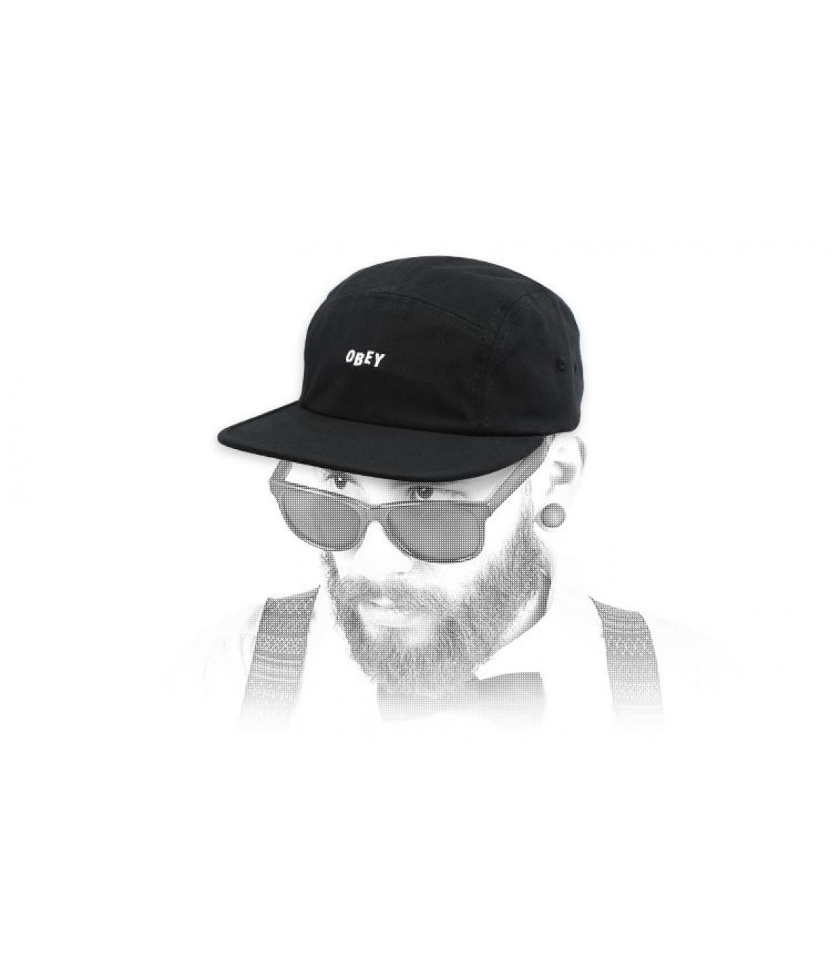 gorra 5 panel negro