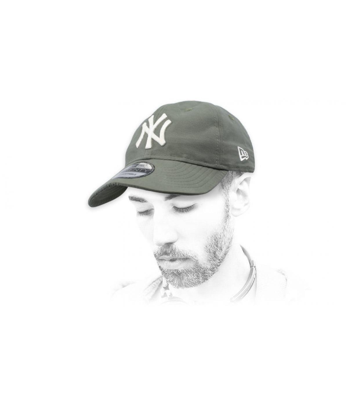gorra plegable NY verde