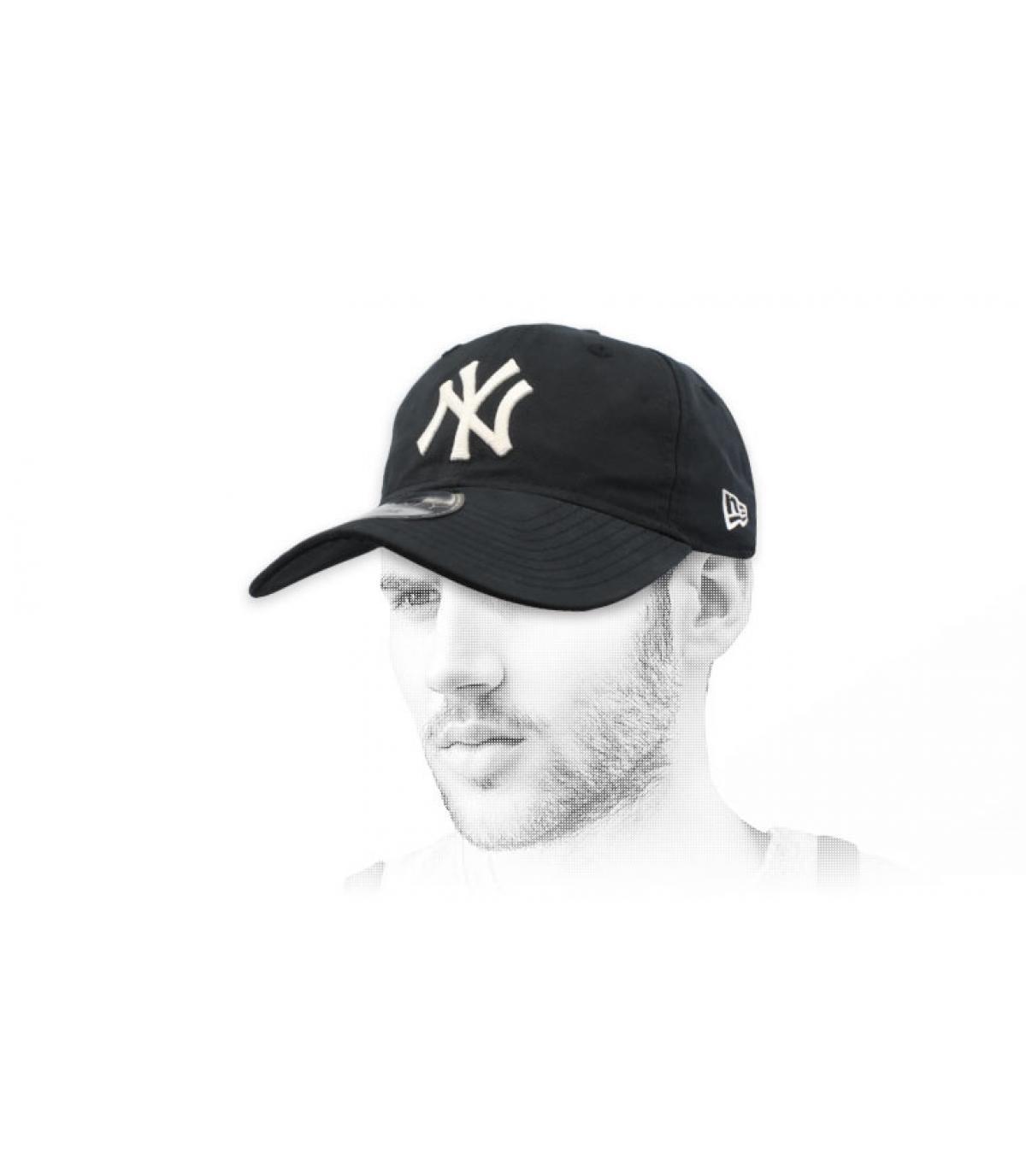 gorra plegable NY negro