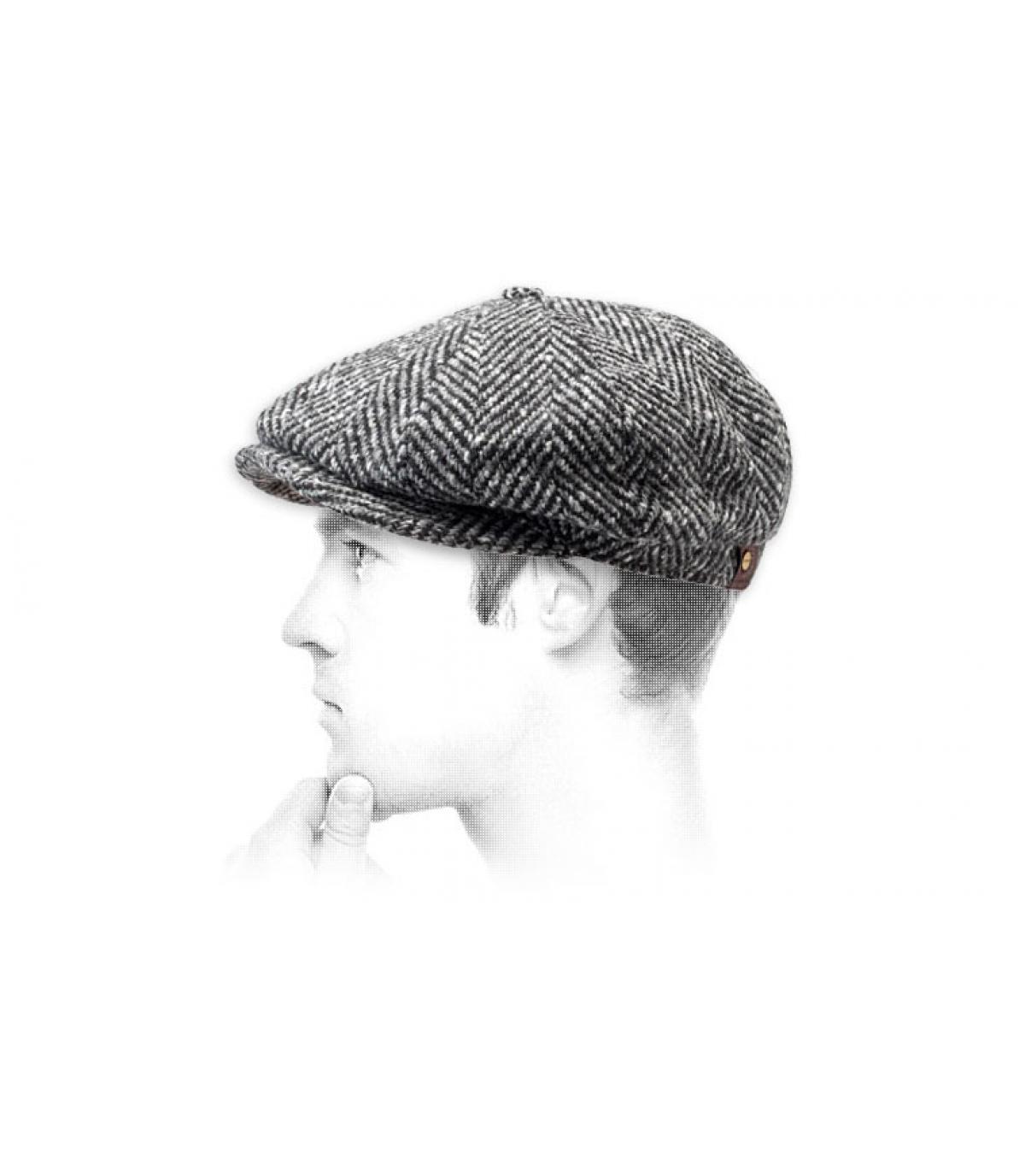 Detalles Hatteras Herringbone black white imagen 3