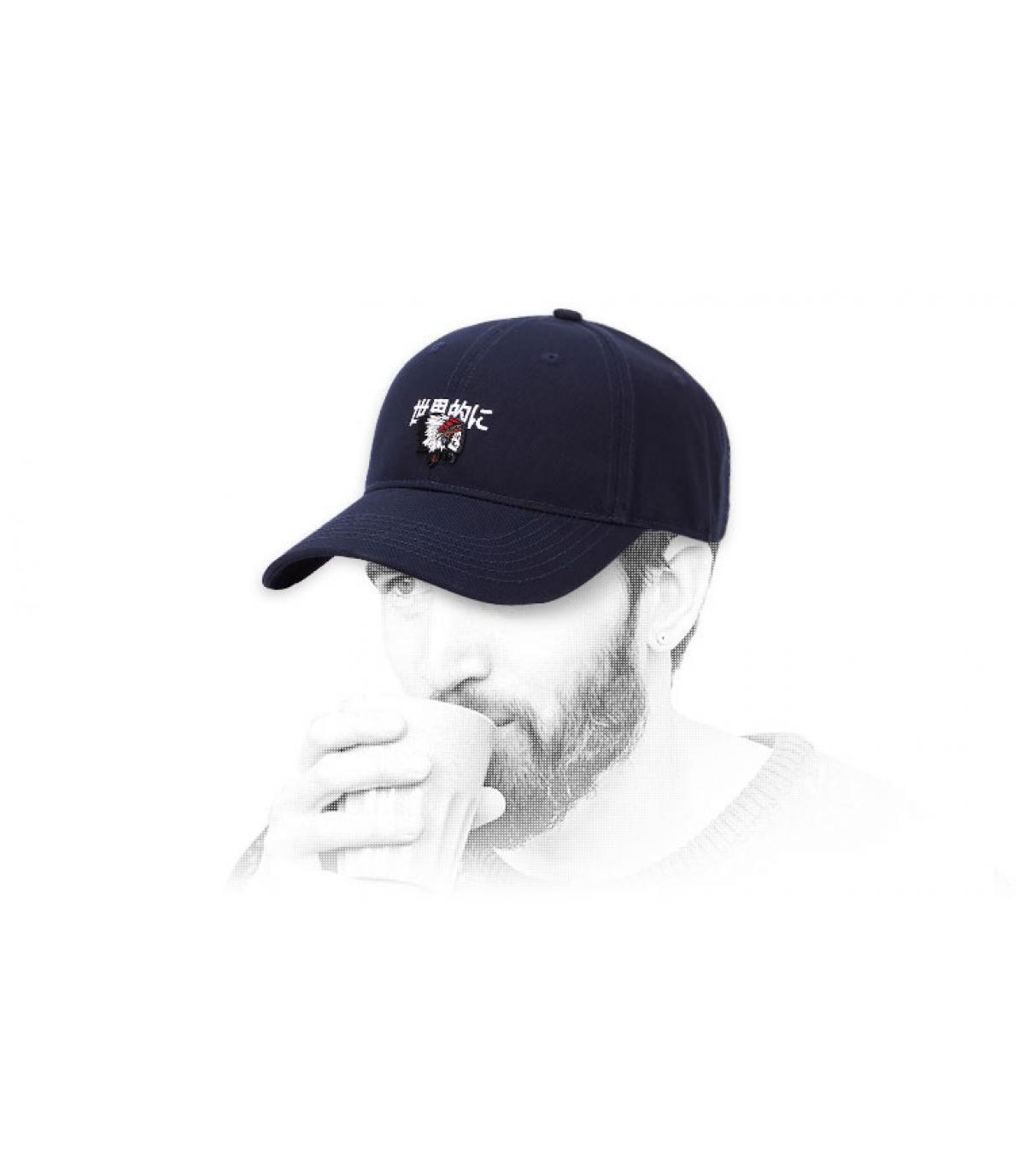 gorra calavera indio negro