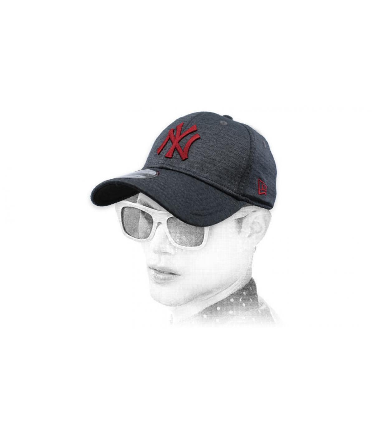 gorra NY negro gris