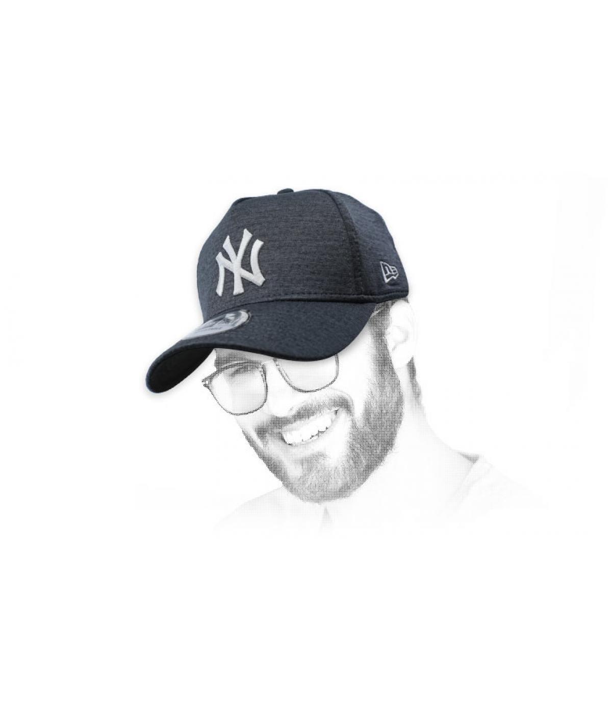 gorra NY negro gris Aframe