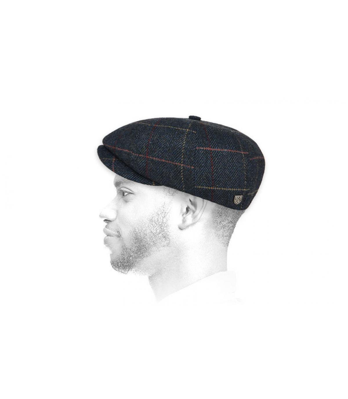gorra repartidor cuadros Brixton