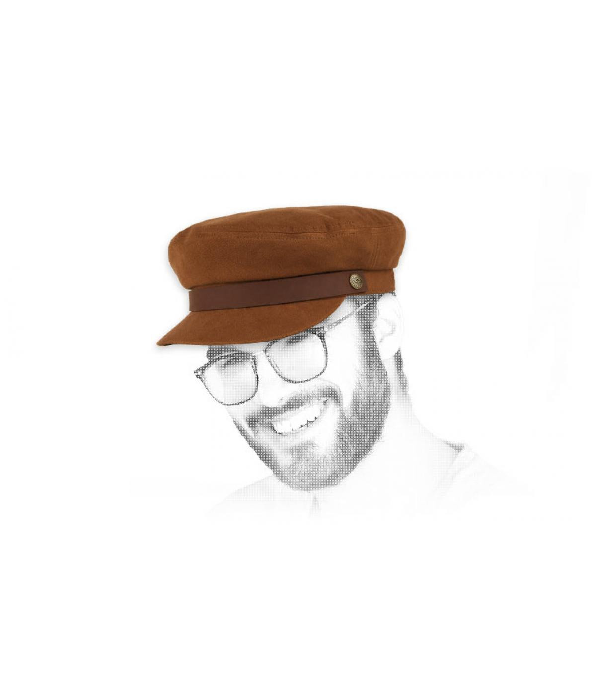 gorra marinera marrón