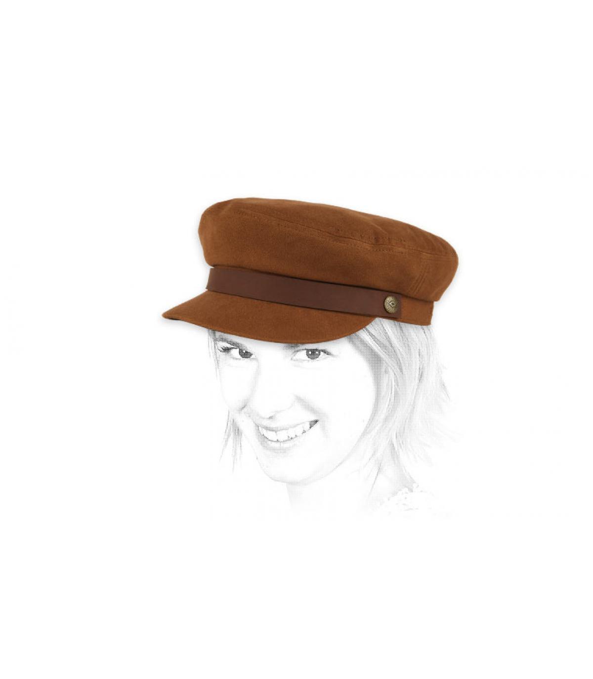 gorra marinera mujer marrón