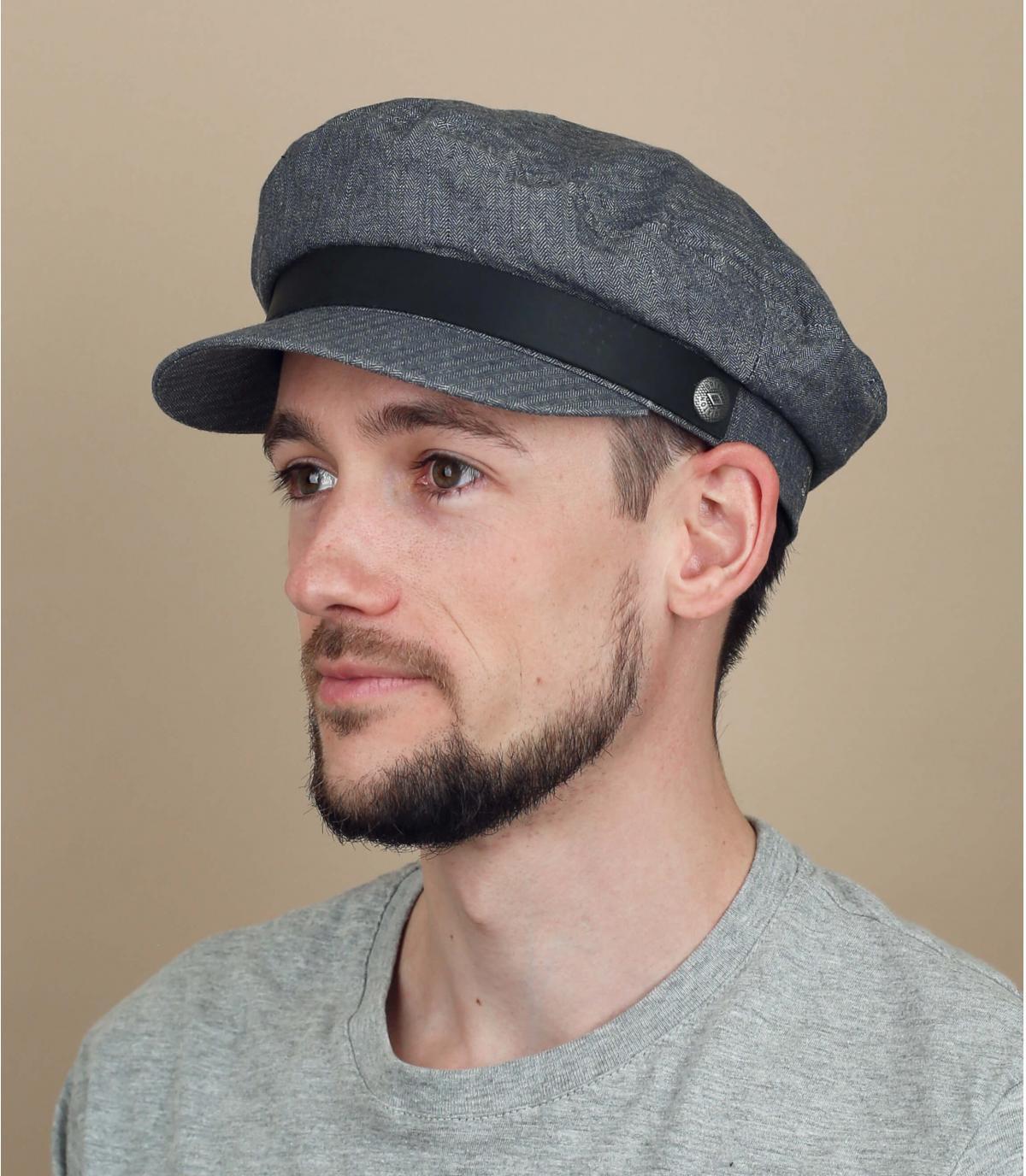 gorra marinera gris Brixton