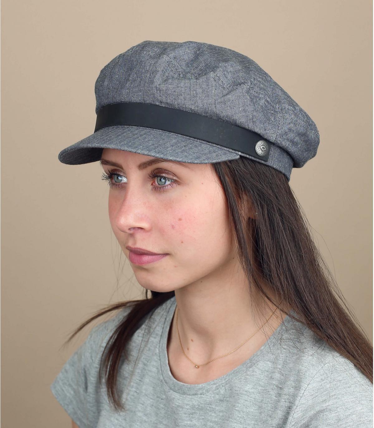 gorra marinera mujer gris