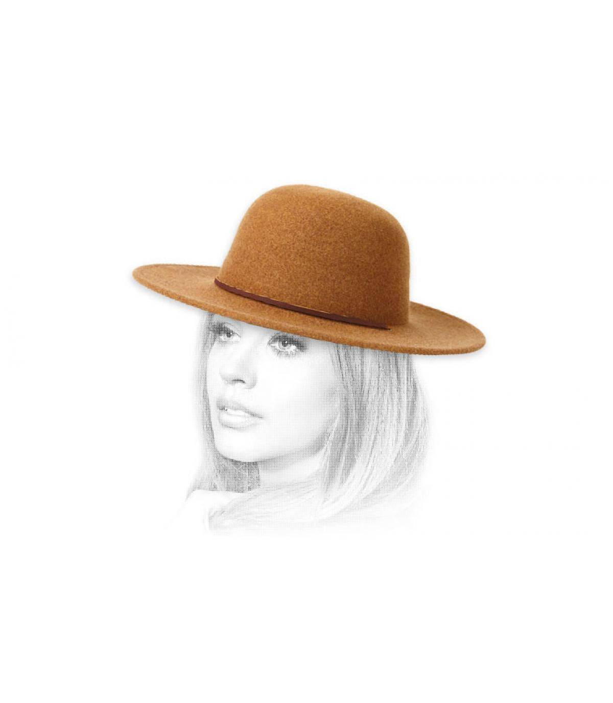 sombrero mujer fieltro beis