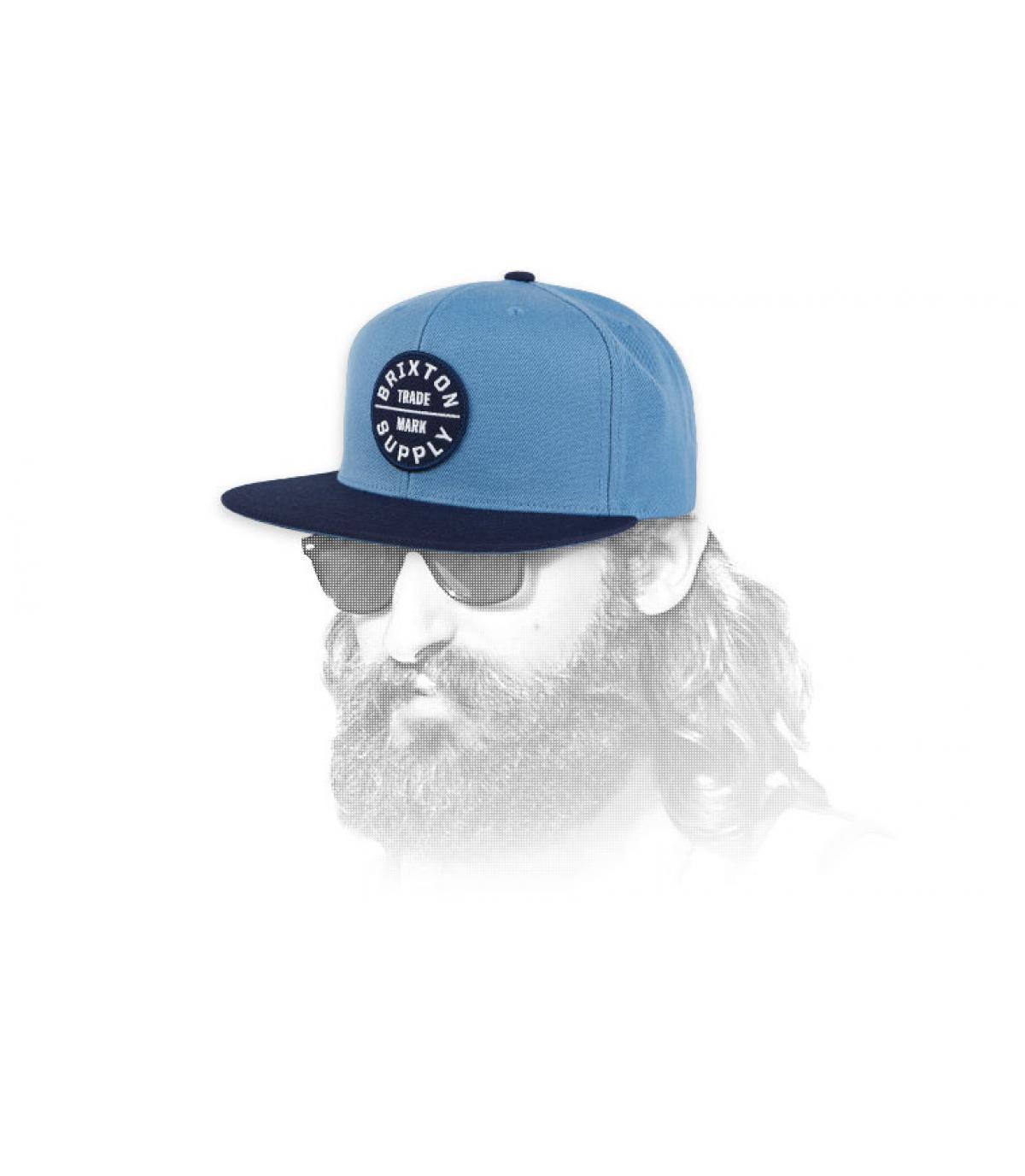 snapback azul Brixton