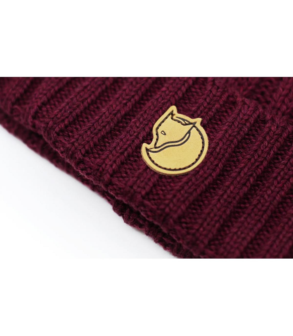 Detalles Braided Knit dark garnet imagen 3