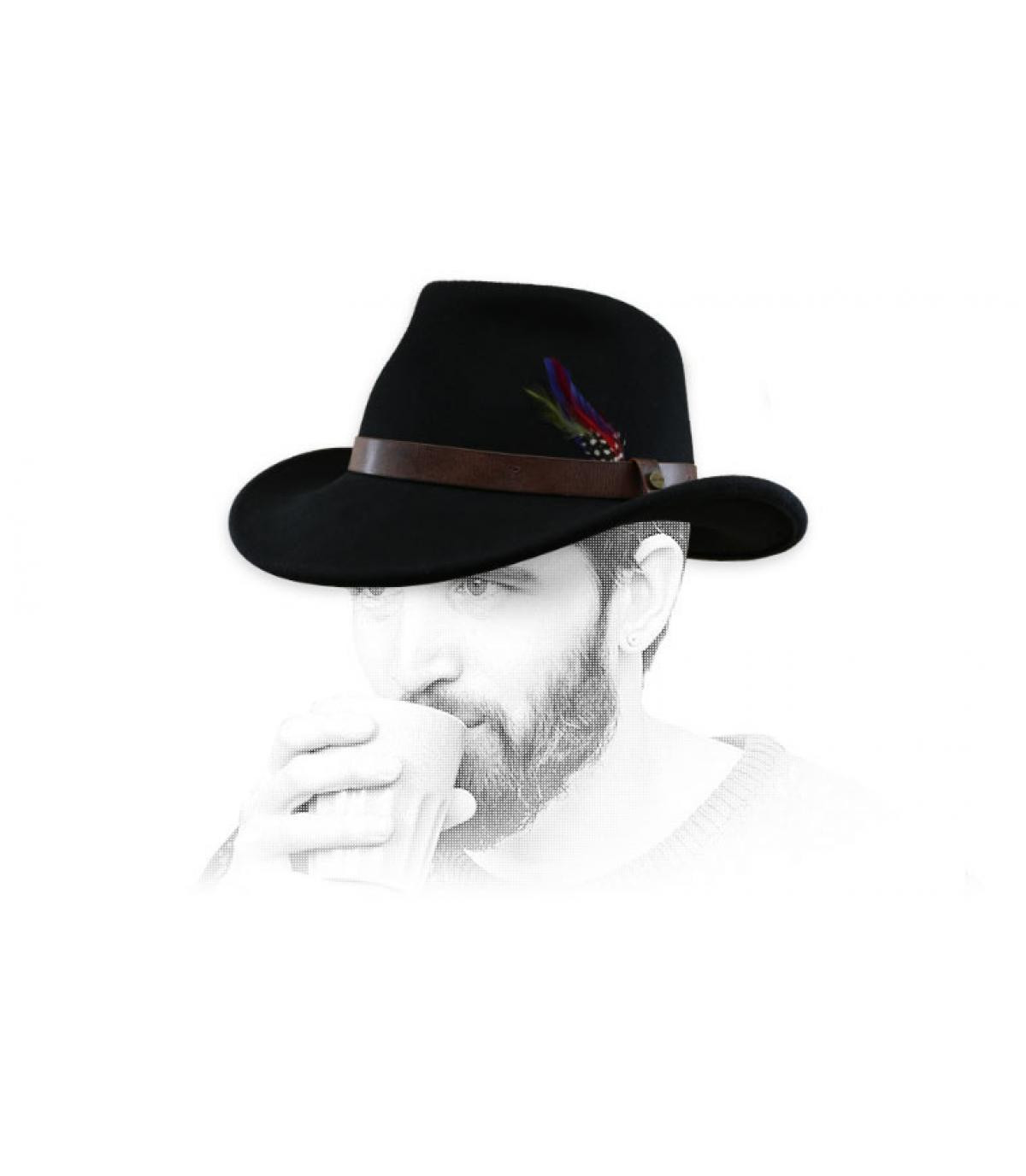 sombrero vaquero negro fieltro