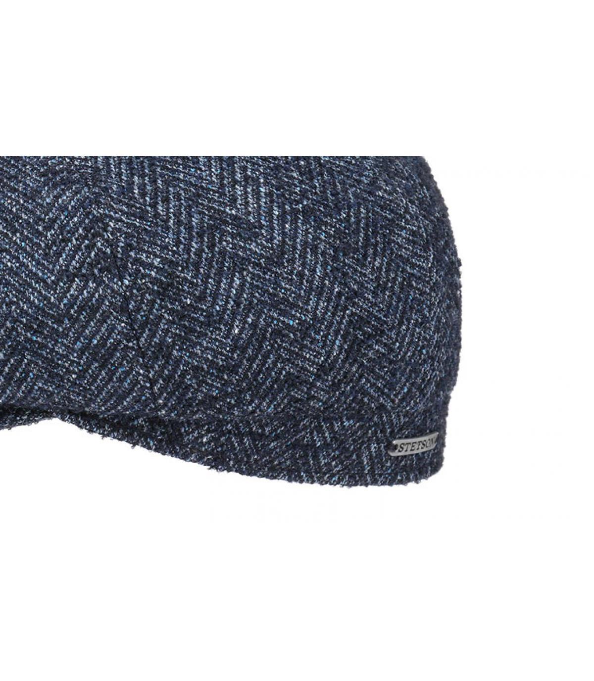 Detalles Hatteras Virgin Wool blue herringbone imagen 3